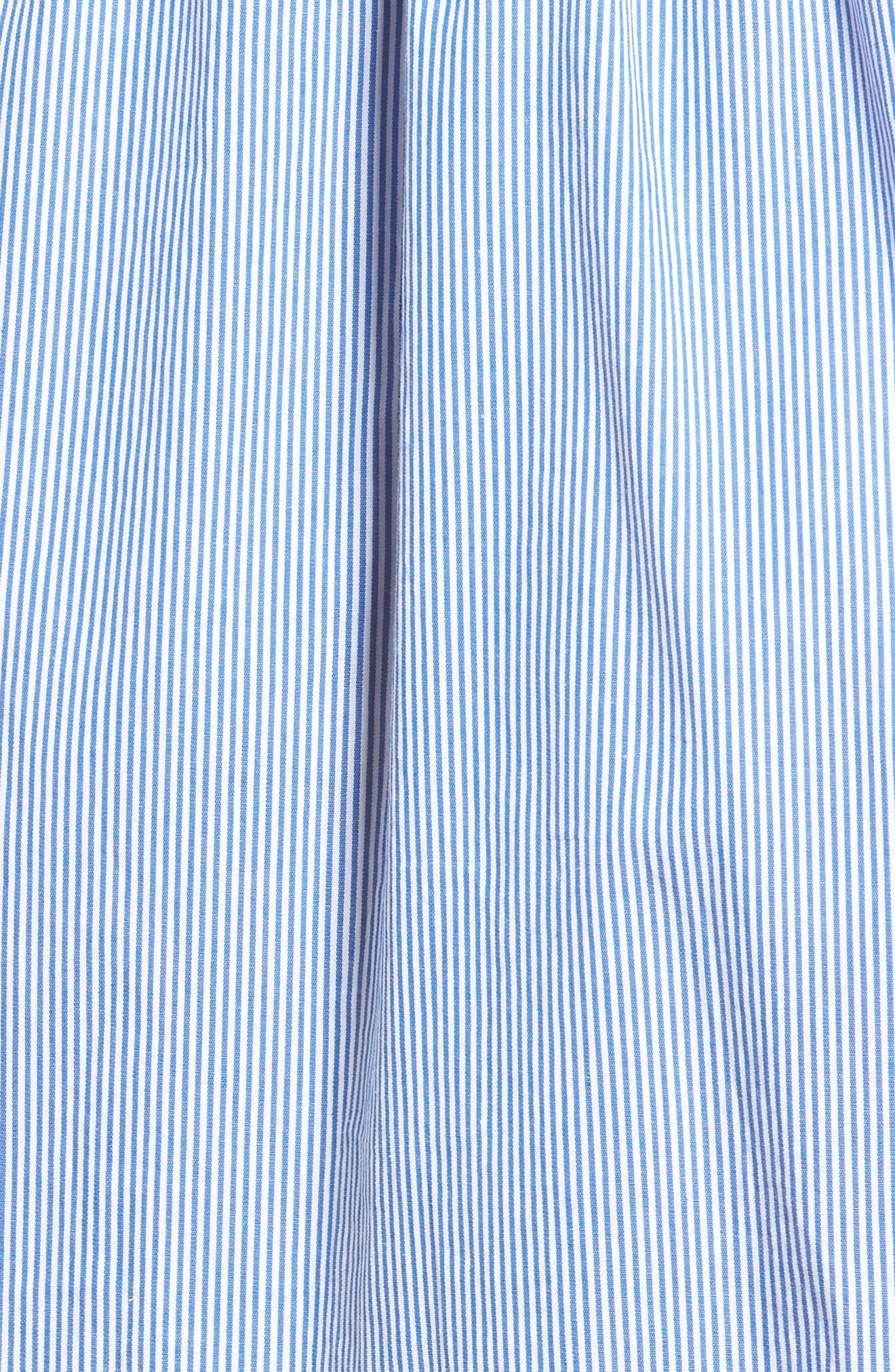 Stripe Wrap Dress,                             Alternate thumbnail 5, color,                             Blue Stripe