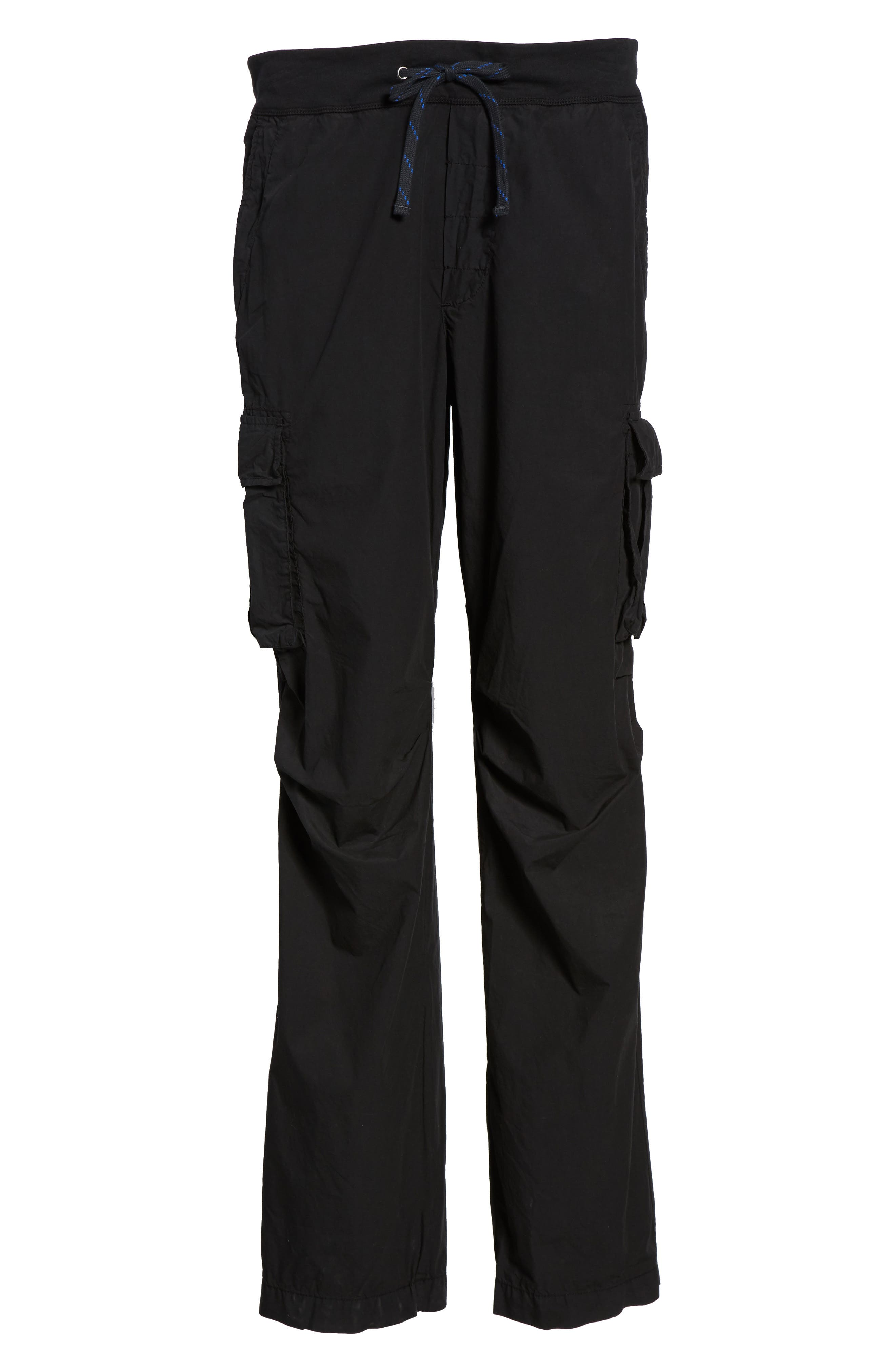 Contrast Waist Cargo Pants,                             Alternate thumbnail 5, color,                             Black