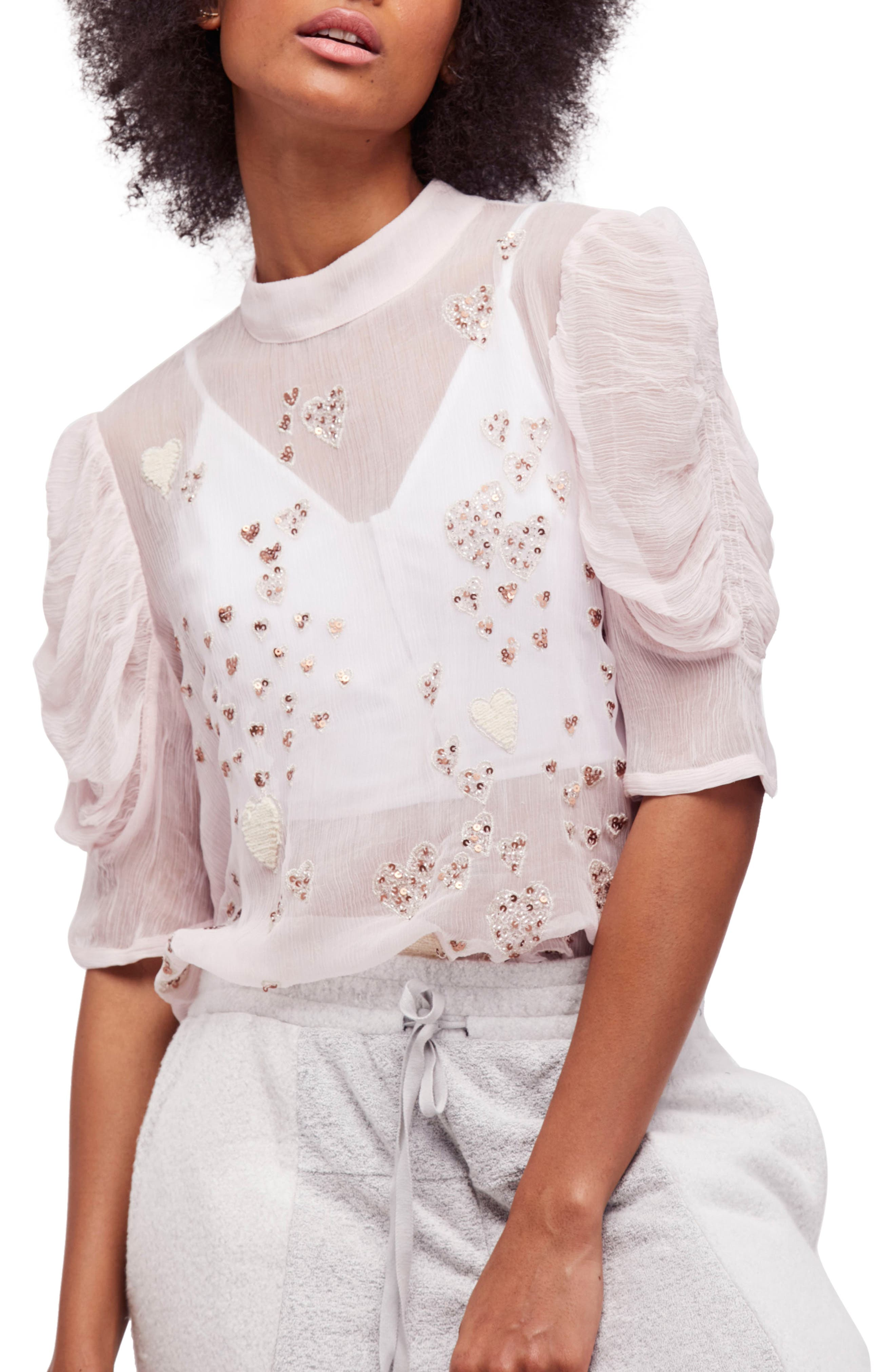 Alternate Image 1 Selected - Free People So in Love Embroidered Blouse