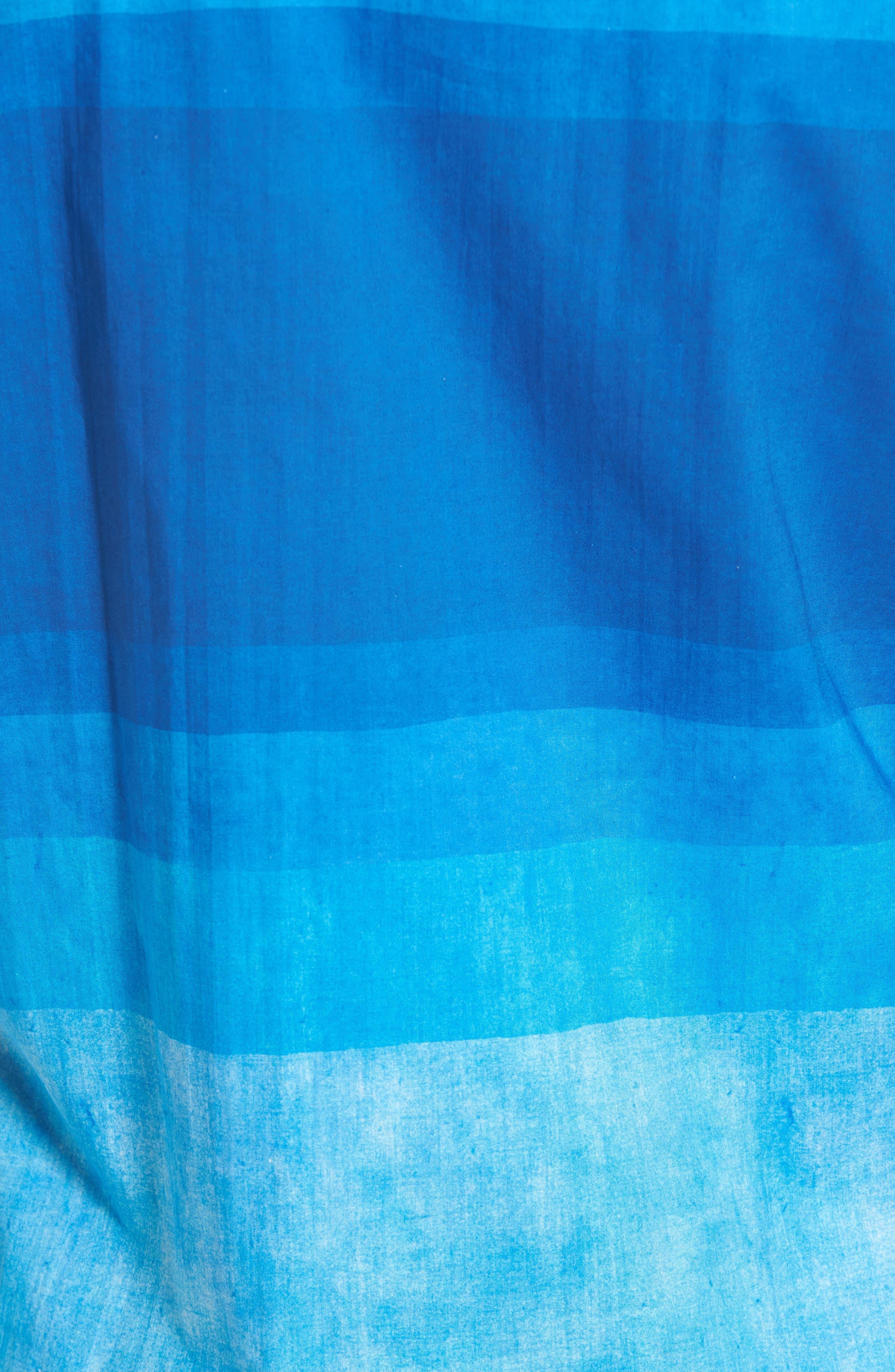 Shaped Fit Colorblock Sport Shirt,                             Alternate thumbnail 5, color,                             Classic Blue