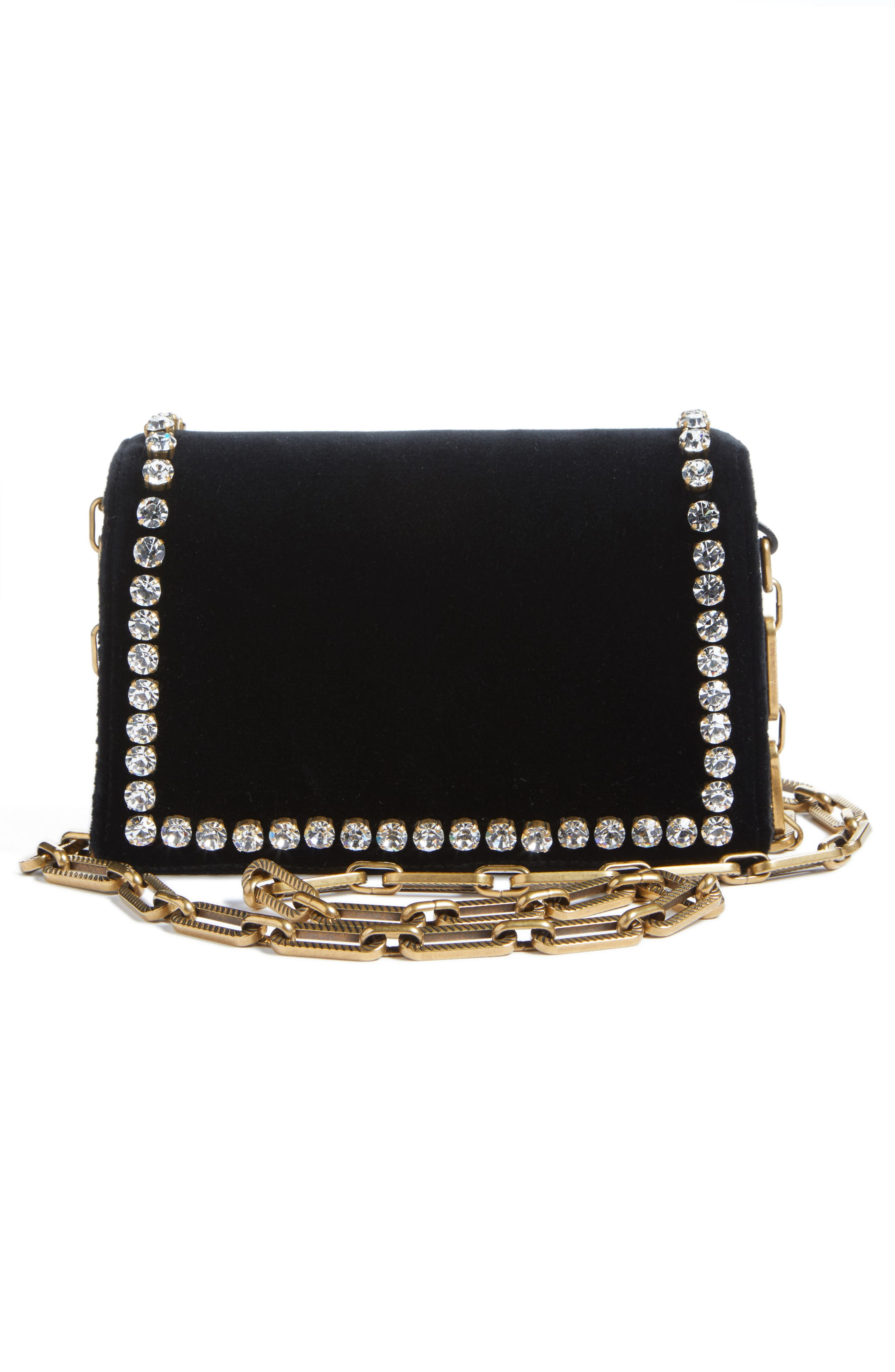 Alternate Image 2  - Gucci Broadway Bee Velvet Shoulder Bag