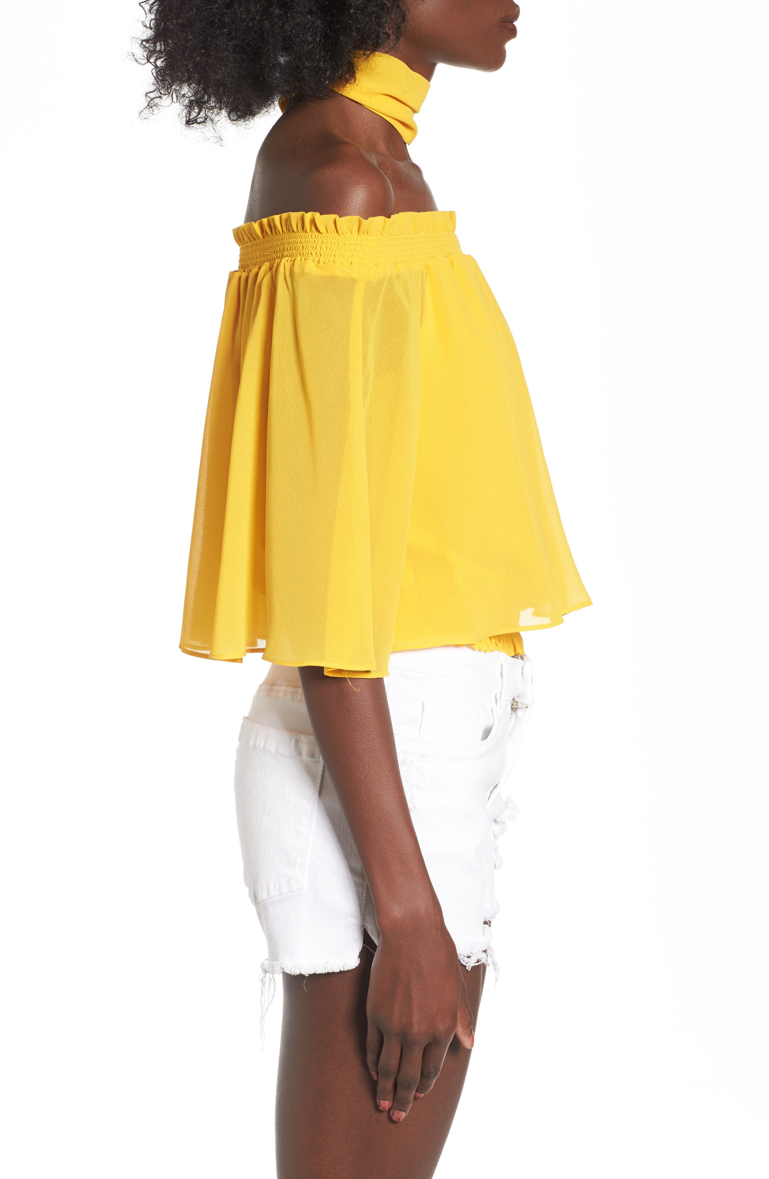 Alternate Image 3  - AFRM Lora Off the Shoulder Ruffle Top with Scarf