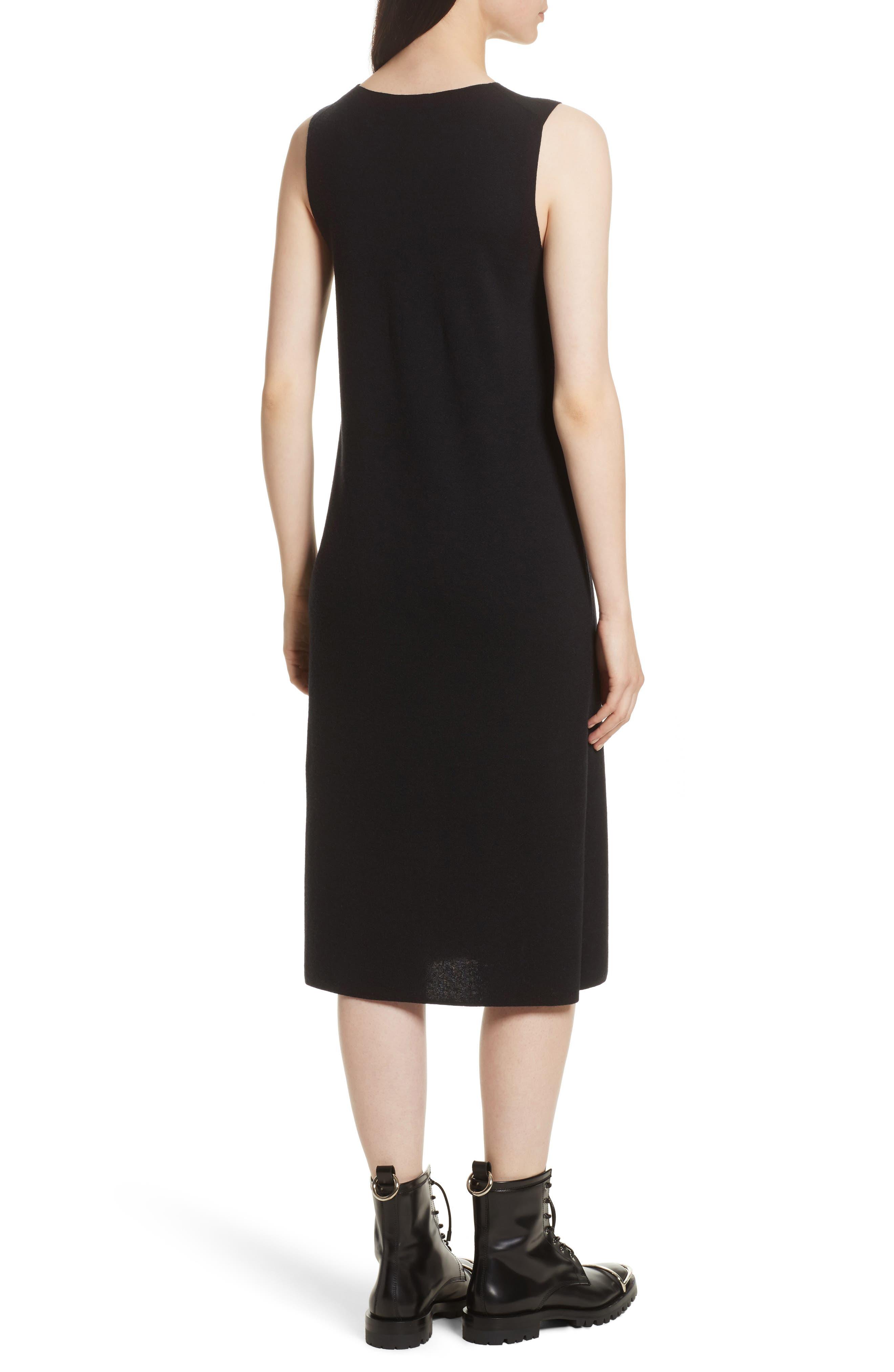 Milano Knit Midi Dress,                             Alternate thumbnail 2, color,                             Black