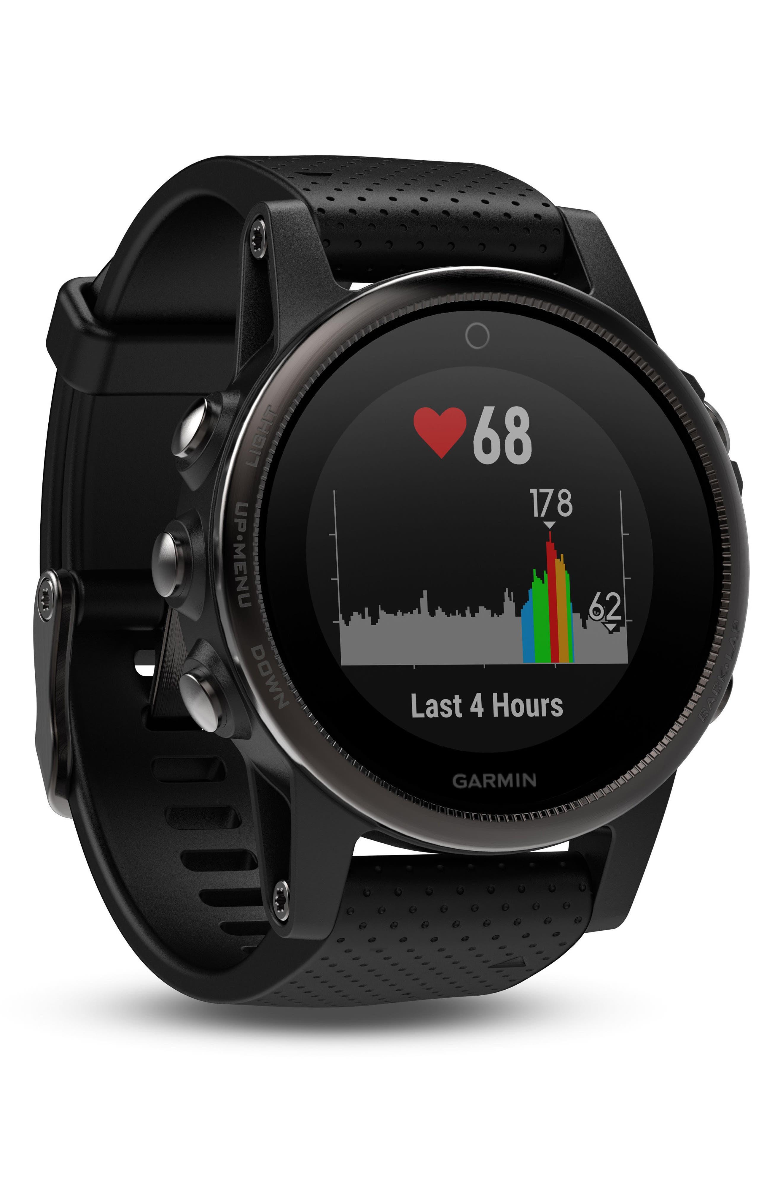 fenix<sup>®</sup> 5S Sapphire Premium Multisport GPS Watch, 42mm,                             Alternate thumbnail 2, color,                             Black/ Black Sapphire