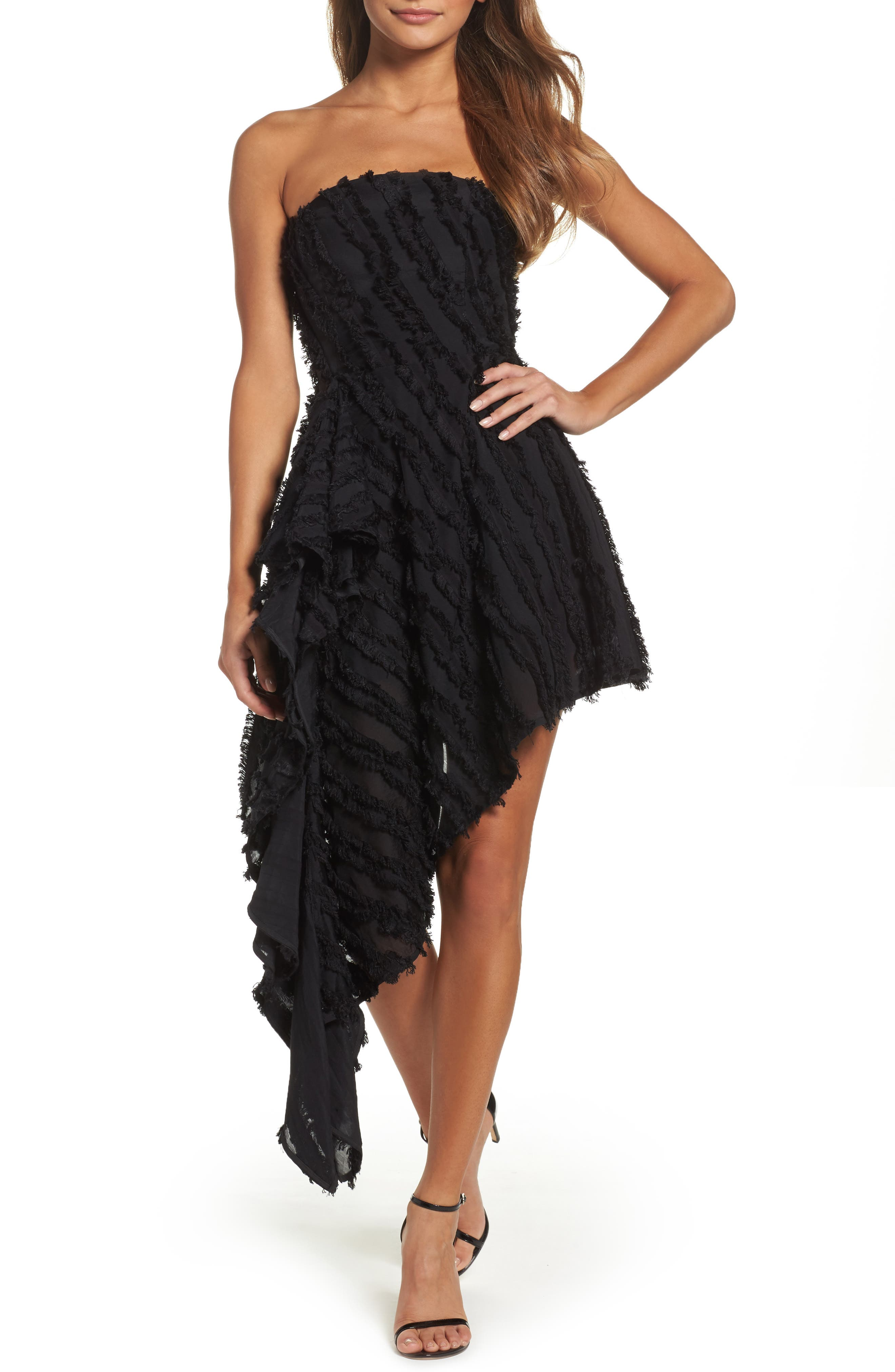 C/MEO Collective Recollection Fringe Asymmetrical Dress