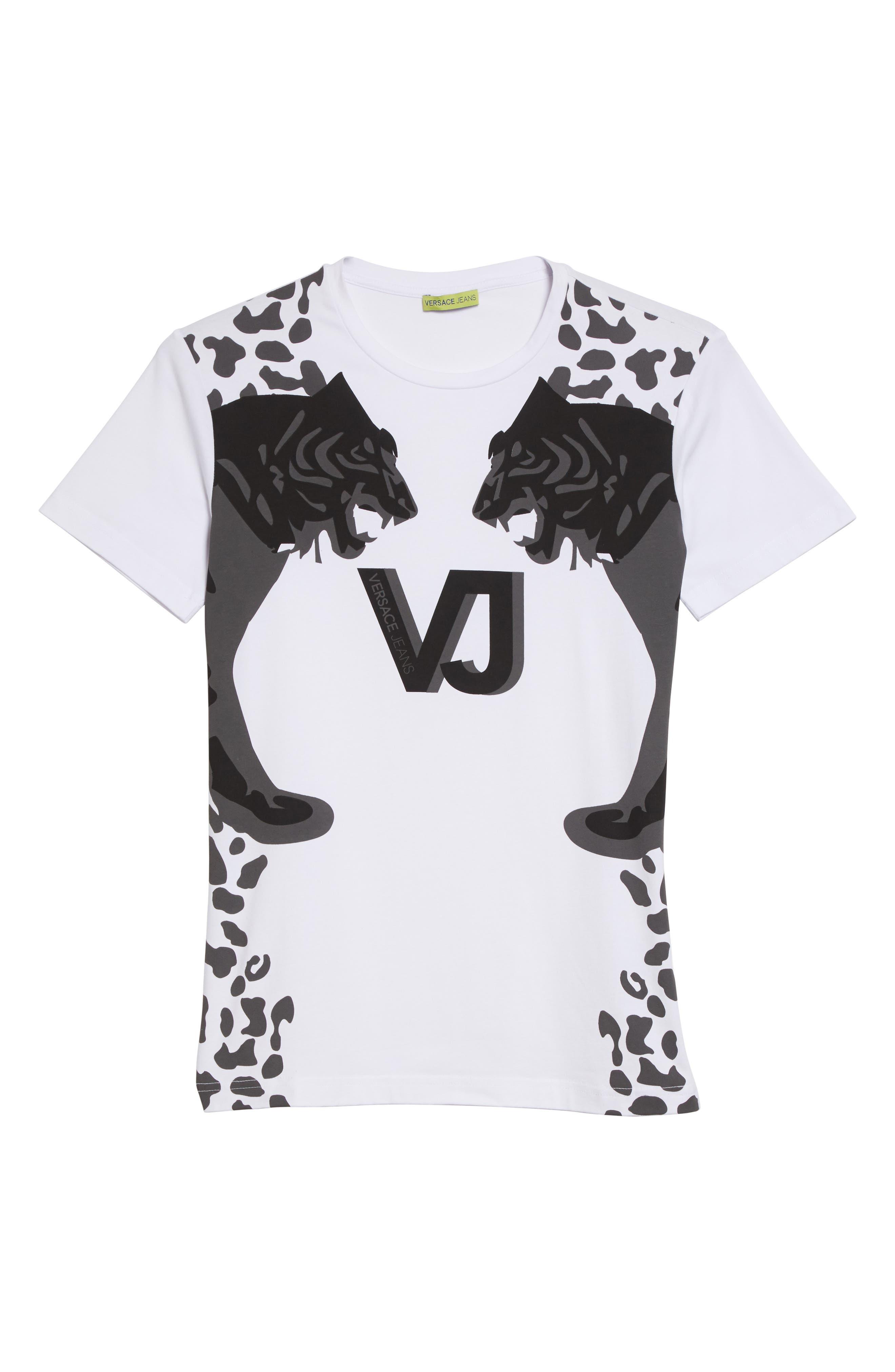 Print T-Shirt,                             Alternate thumbnail 6, color,                             White/ Grey