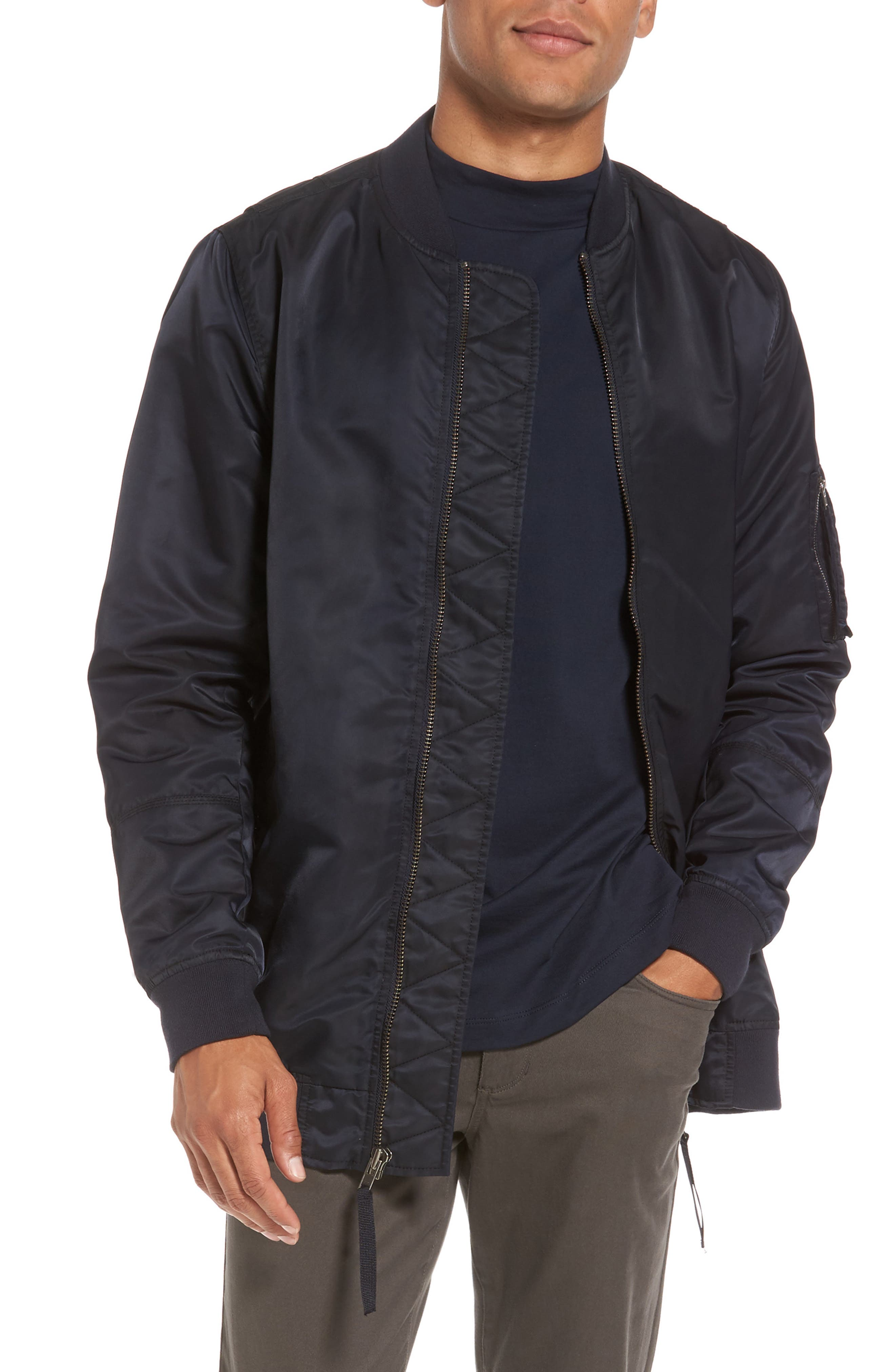 Vince Longline Aviator Jacket