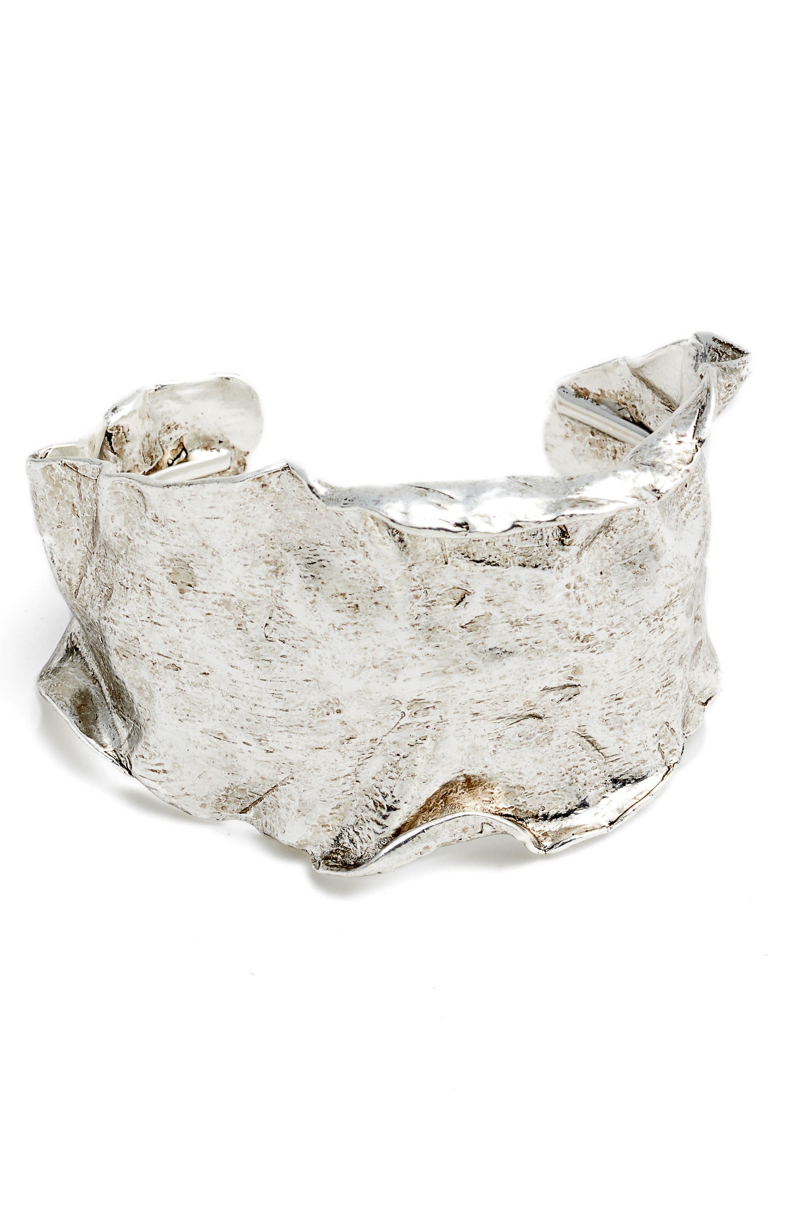 Wide Cuff,                         Main,                         color, Silver