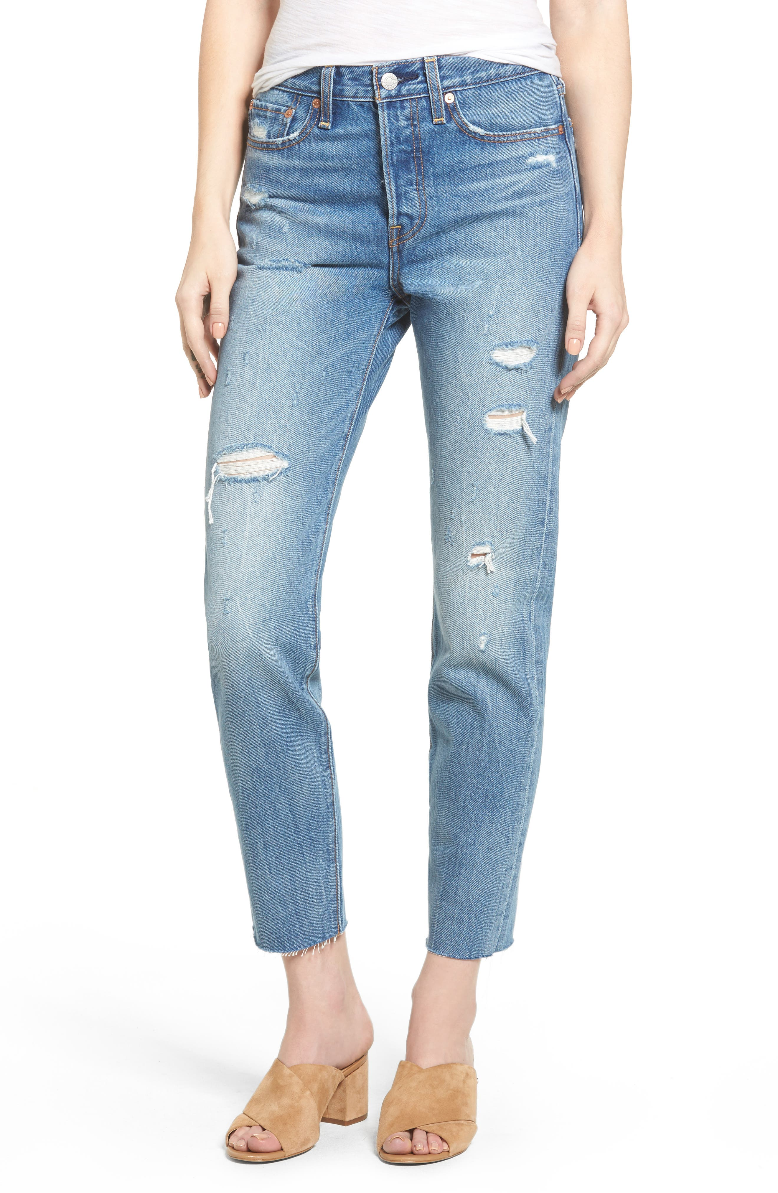 Wedgie High Waist Crop Jeans,                         Main,                         color, Partner In Crime