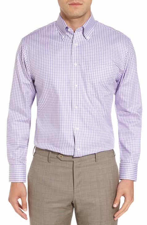 David Donahue Regular Fit Houndstooth Dress Shirt   Nordstrom  From Dress Shirts Nordstrom