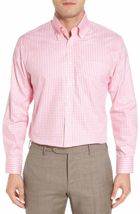 83e946b42 Nordstrom Men s Shop Traditional Fit Non-Iron Gingham Dress Shirt