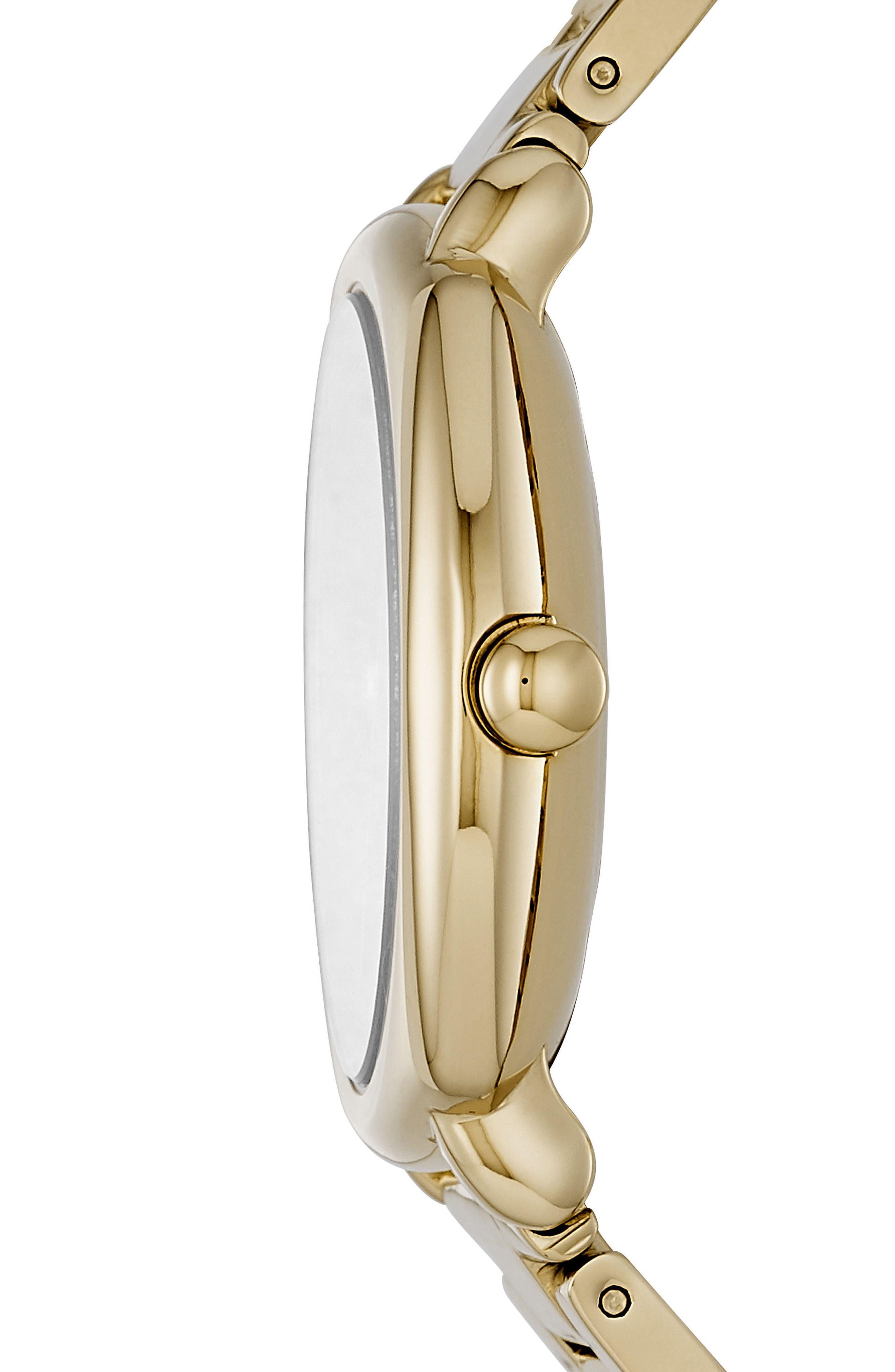 Mandy Bracelet Watch, 34mm,                             Alternate thumbnail 2, color,                             Gold
