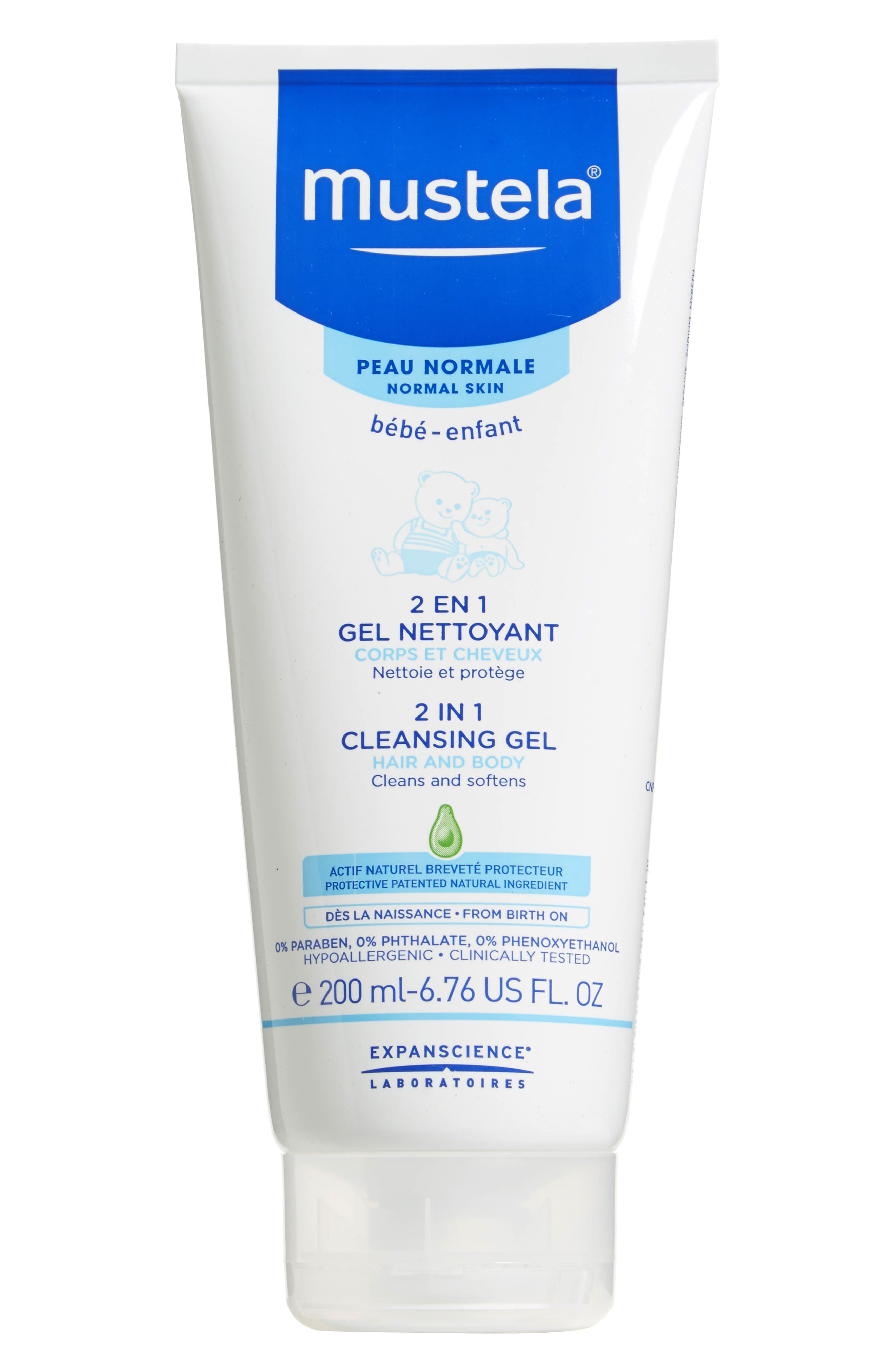 2-in-1 Cleansing Gel for Hair,                         Main,                         color, White