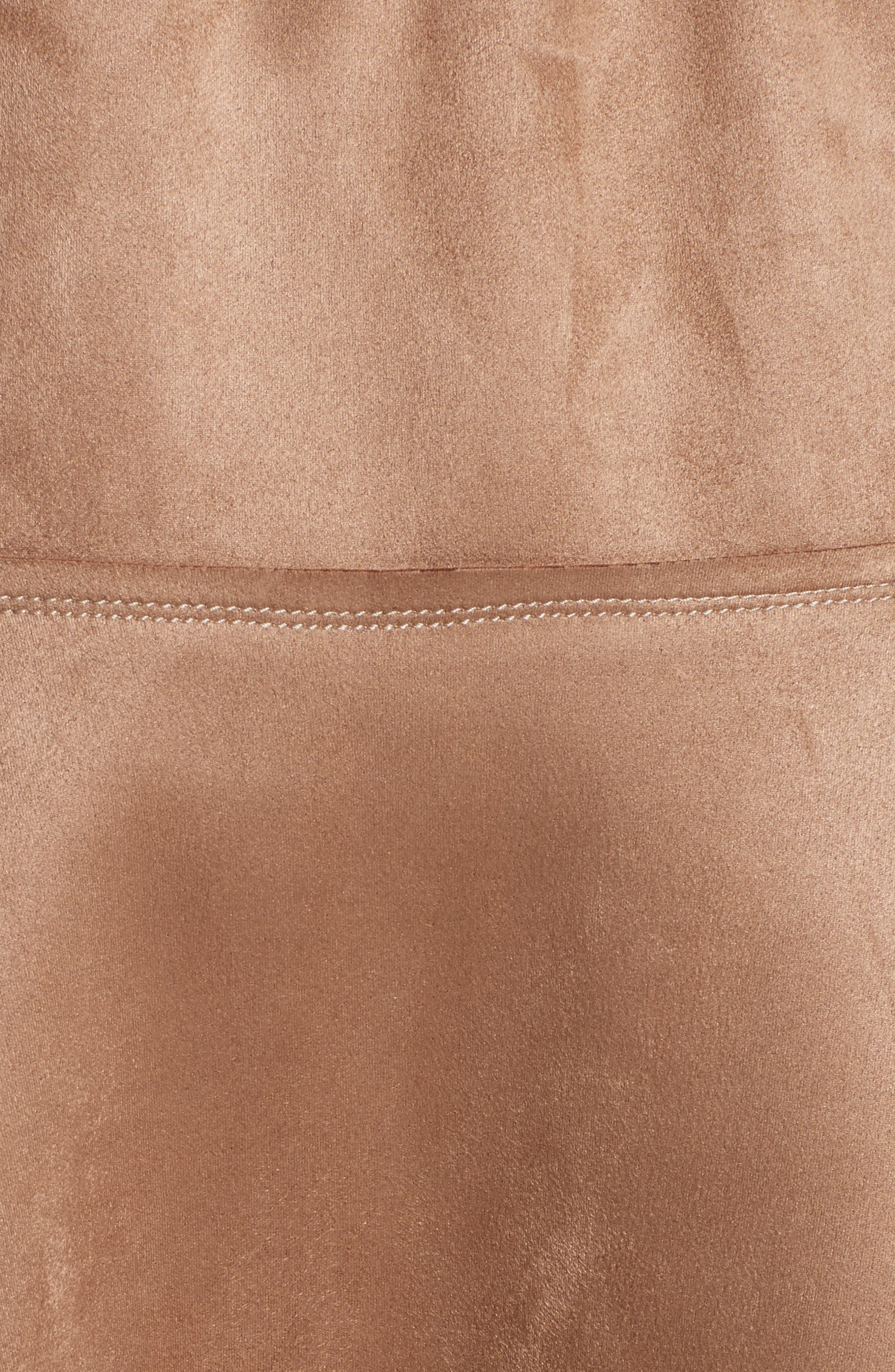 Metallic Midi Skirt,                             Alternate thumbnail 5, color,                             Dark Sand