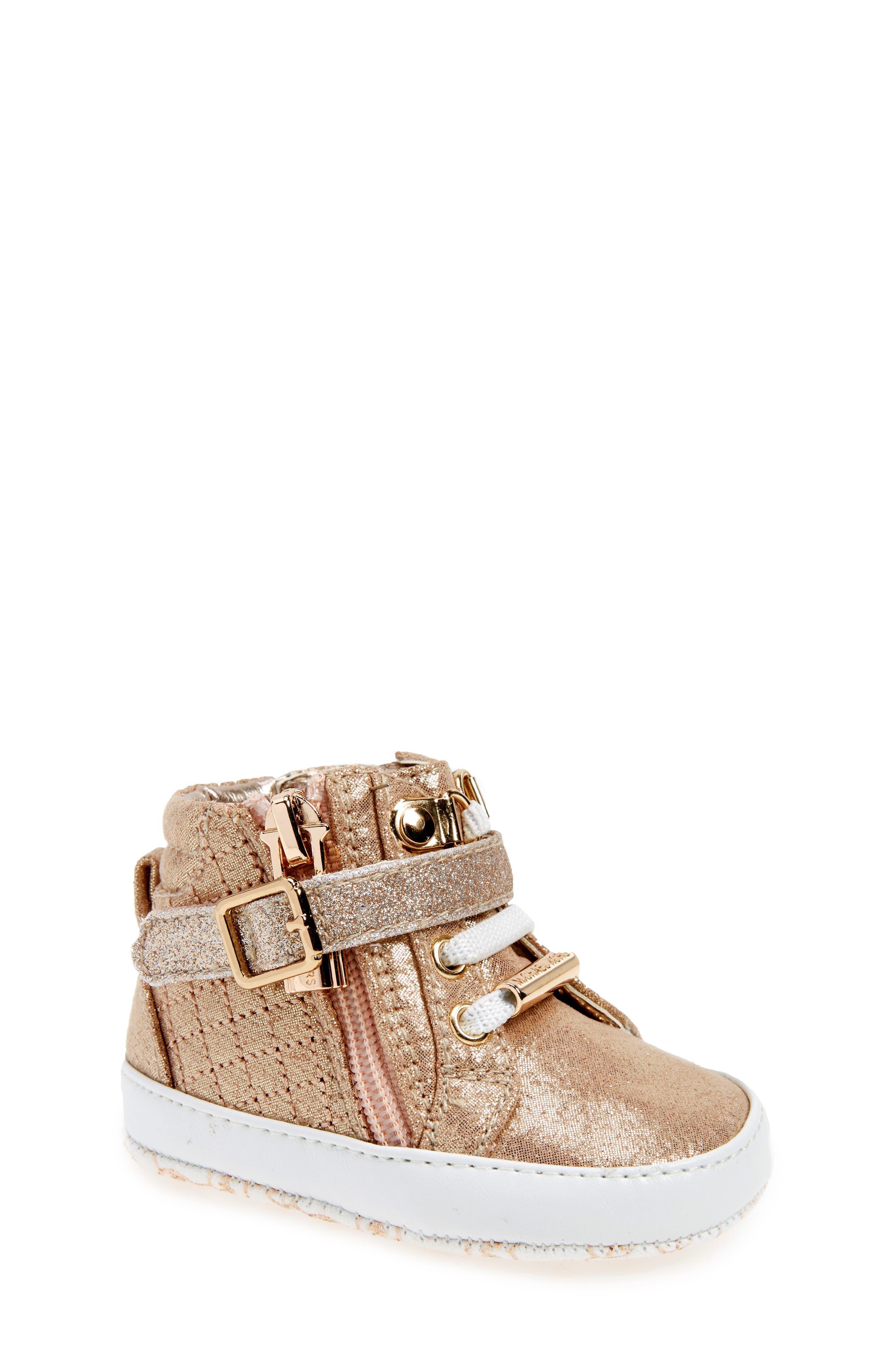 Main Image - MICHAEL Michael Kors Baby Rio Crib Shoe (Baby)