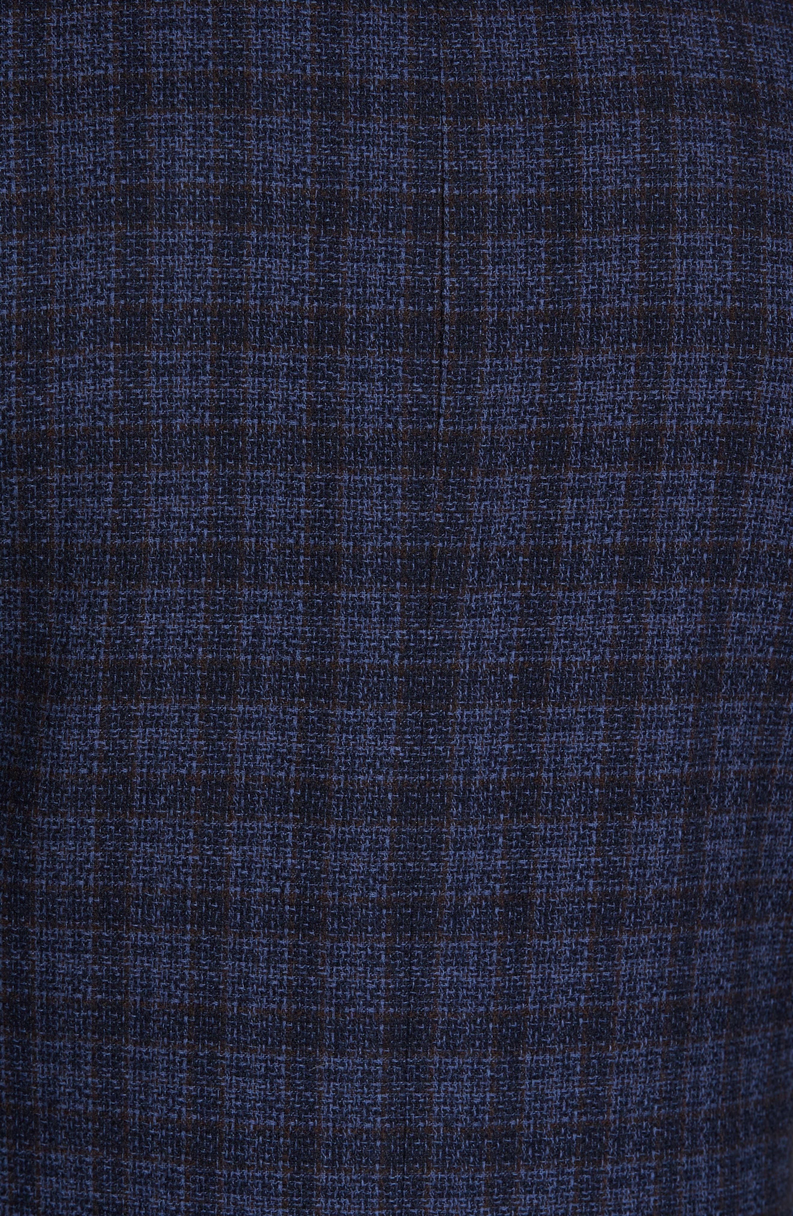 Alternate Image 5  - JKT New York Trim Fit Plaid Cotton Blend Sport Coat