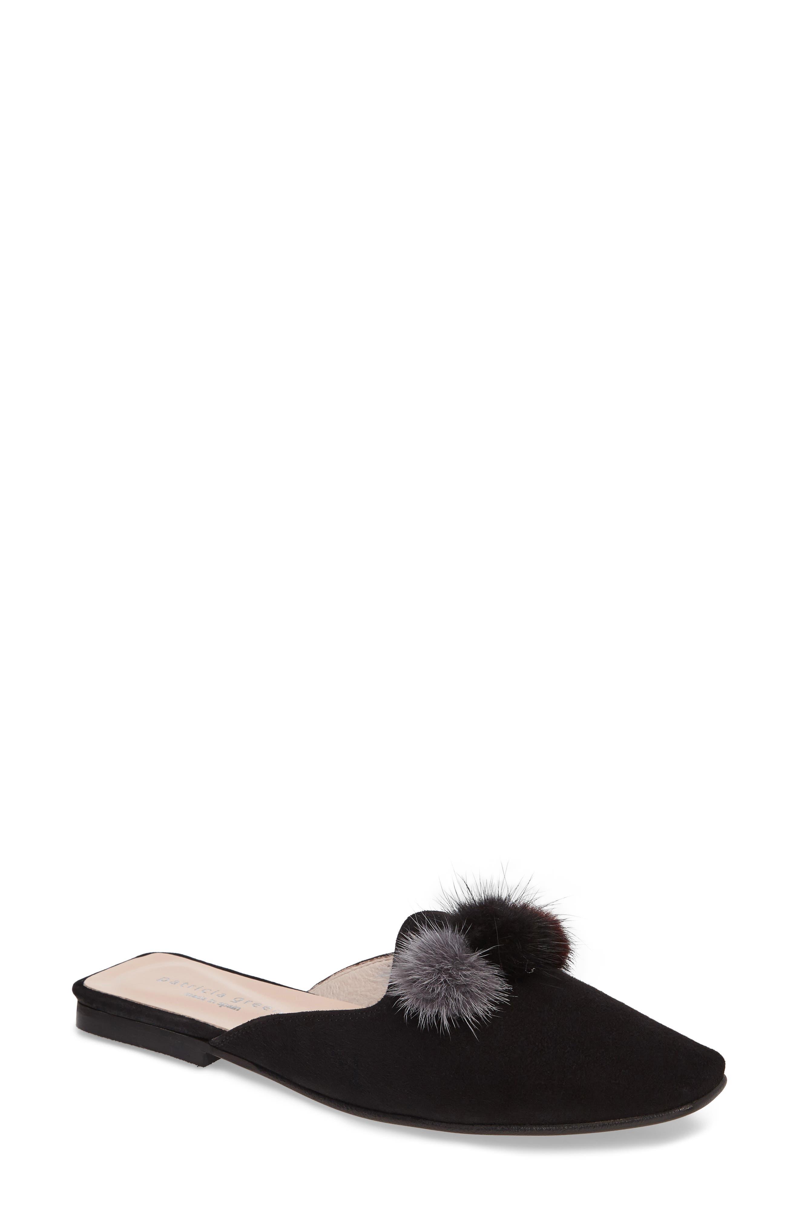 patricia green Cerise Genuine Fur Mule (Women)
