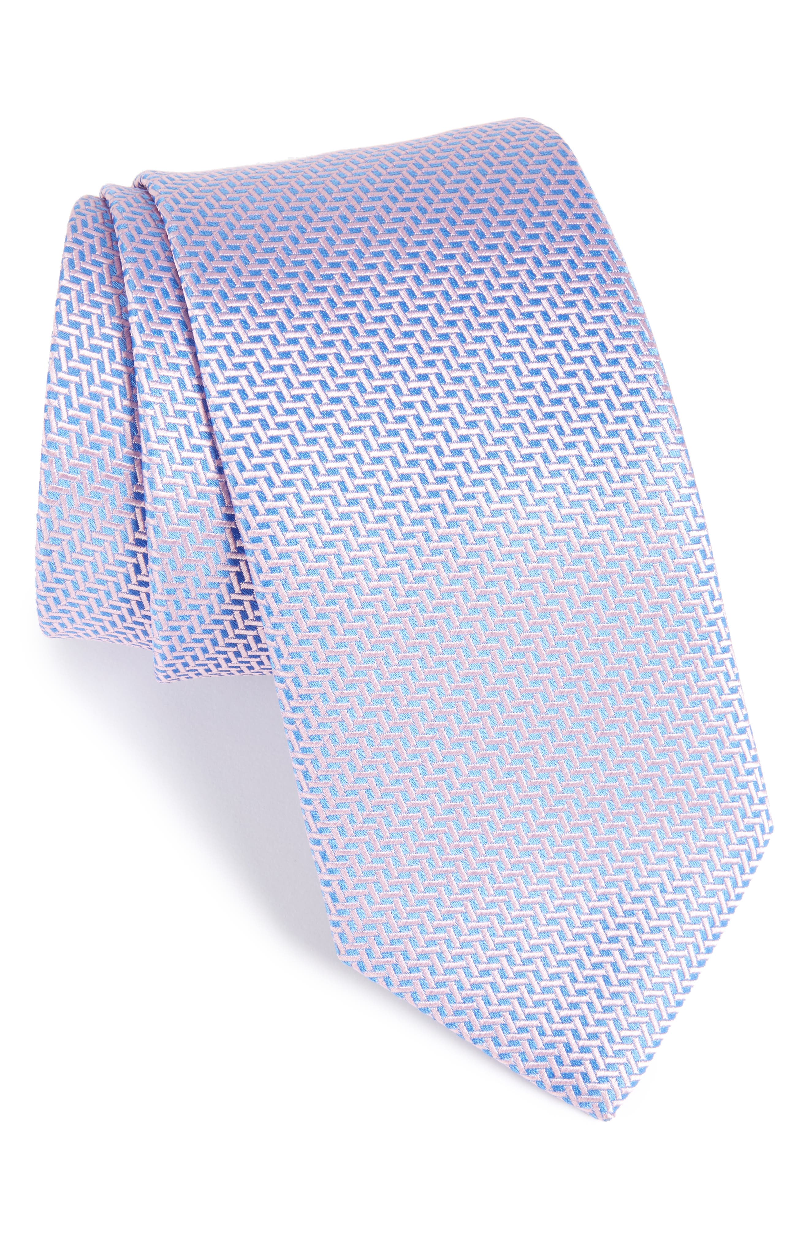 Alternate Image 1 Selected - Eton Geometric Silk Tie