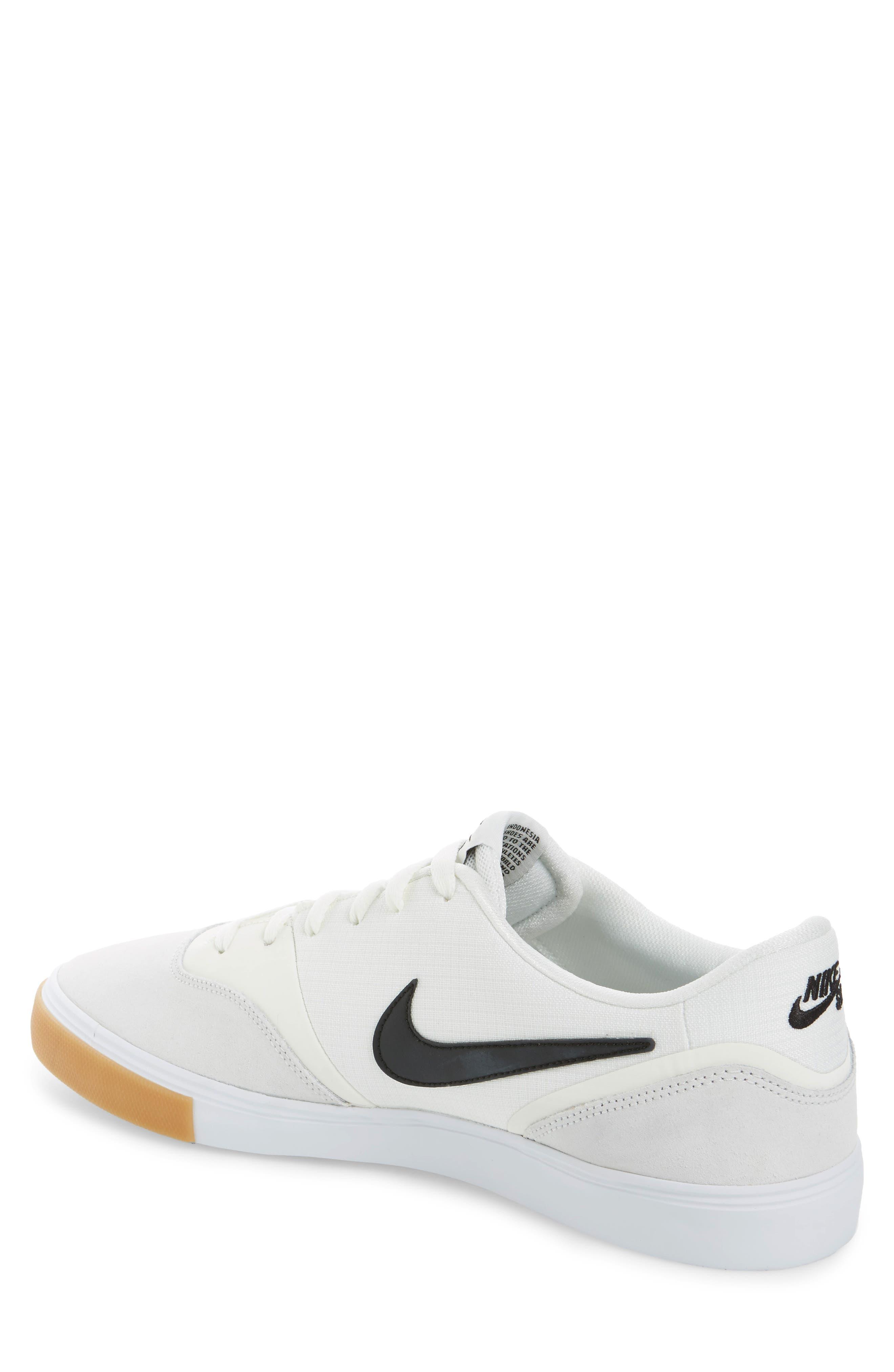 SB Paul Rodriguez 9 VR Skateboarding Sneaker,                             Alternate thumbnail 2, color,                             White/ Black/ Black