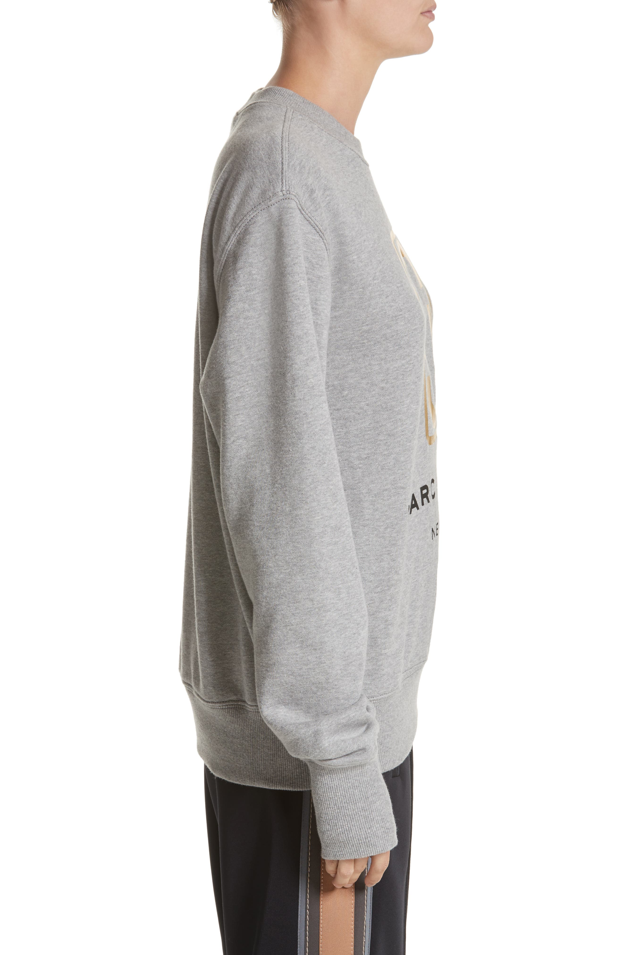 Logo Sweatshirt,                             Alternate thumbnail 3, color,                             Grey Melange