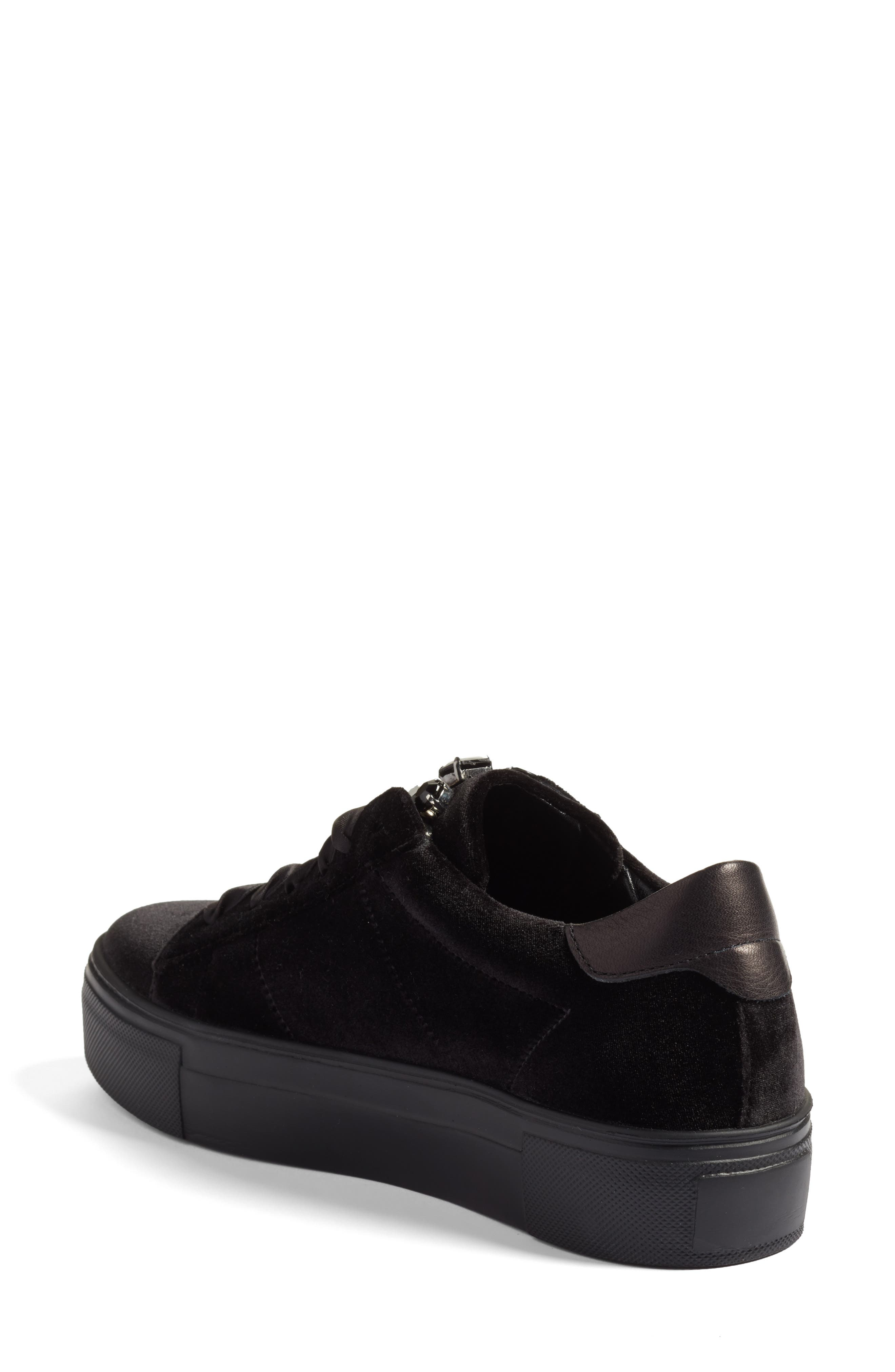 Alternate Image 2  - Kennel & Schmenger Big Velvet Lace-Up Sneaker (Women)