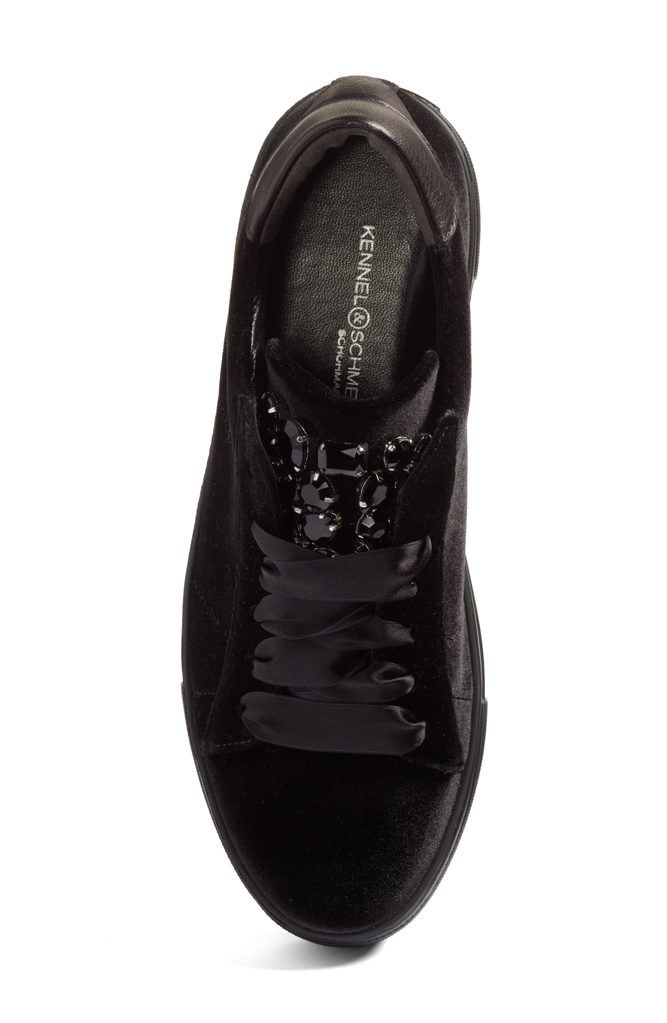 Alternate Image 5  - Kennel & Schmenger Big Velvet Lace-Up Sneaker (Women)