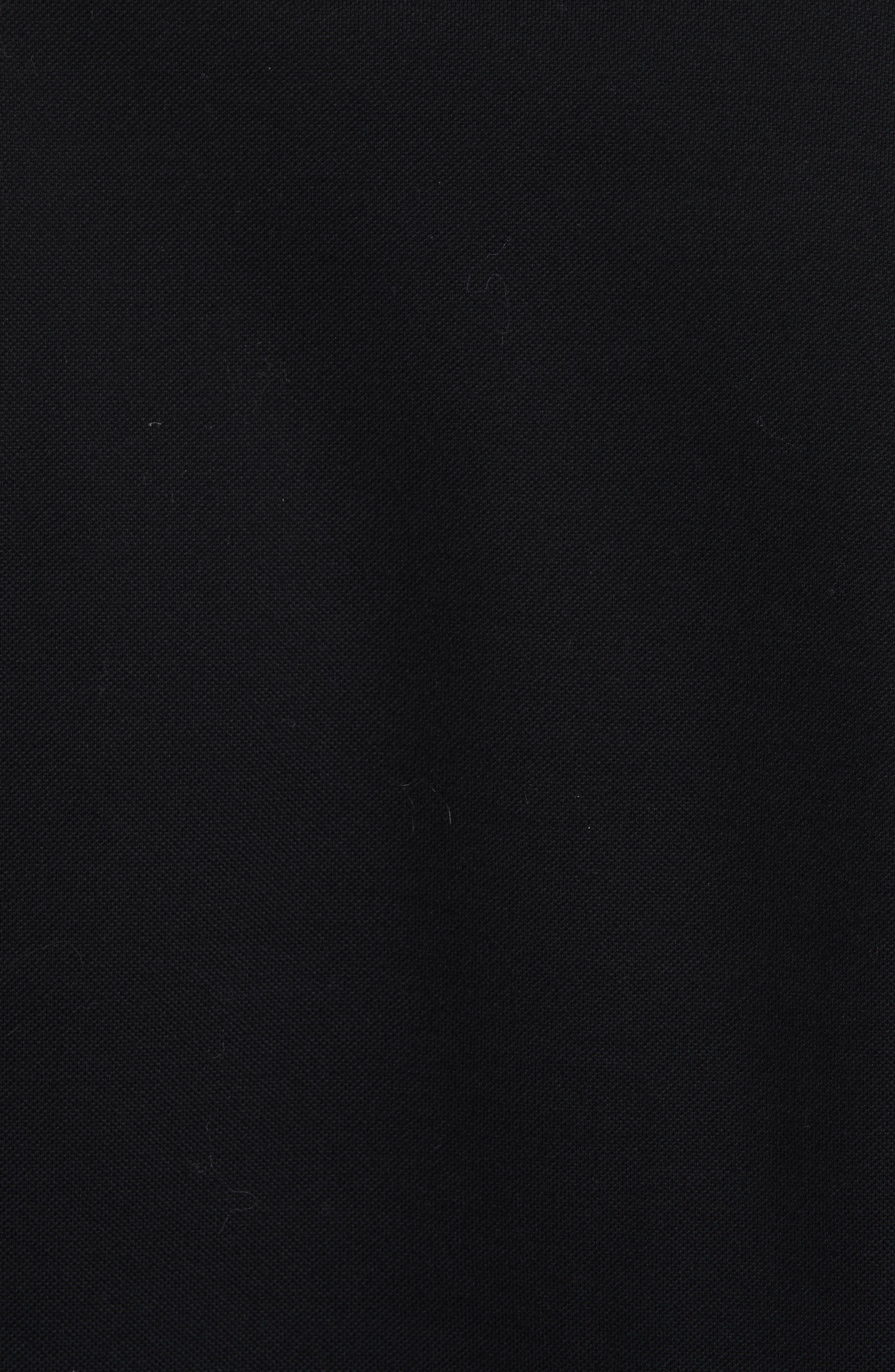 Foiled V-Print Polo,                             Alternate thumbnail 5, color,                             Black
