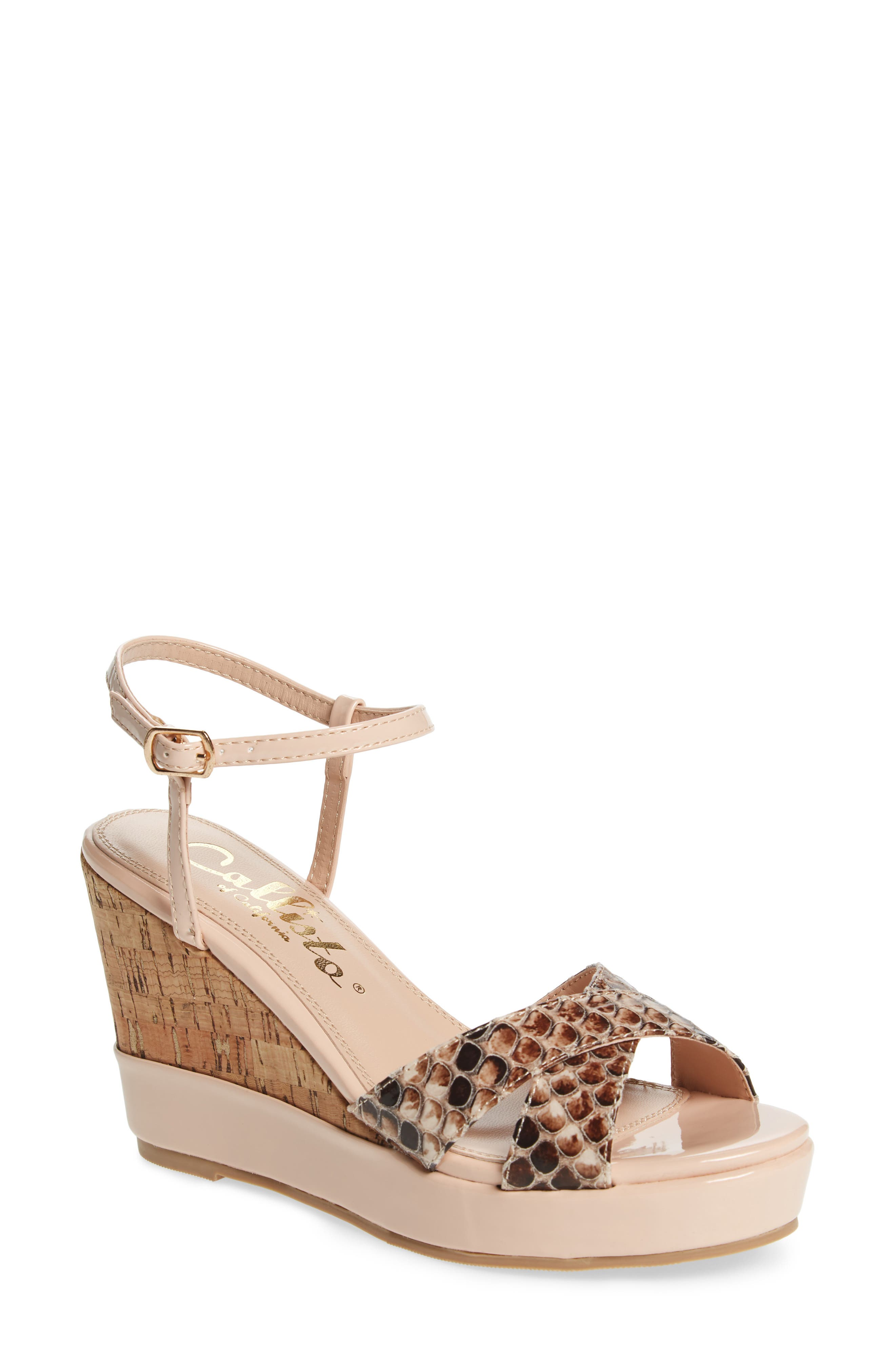 Callisto Lottie Platform Wedge Sandal (Women)