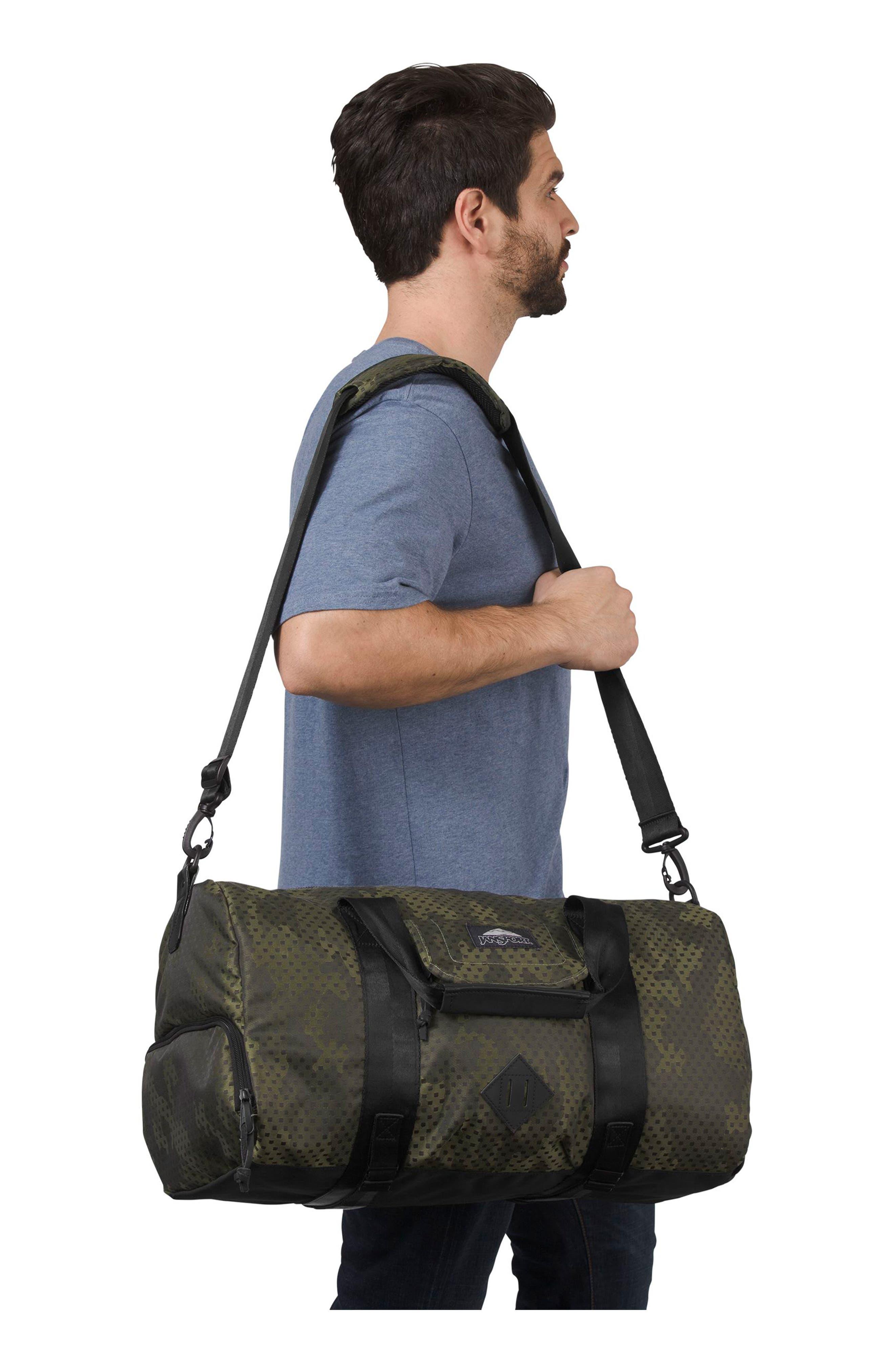 Wayward Duffel Bag,                             Alternate thumbnail 5, color,                             Green Square Camo