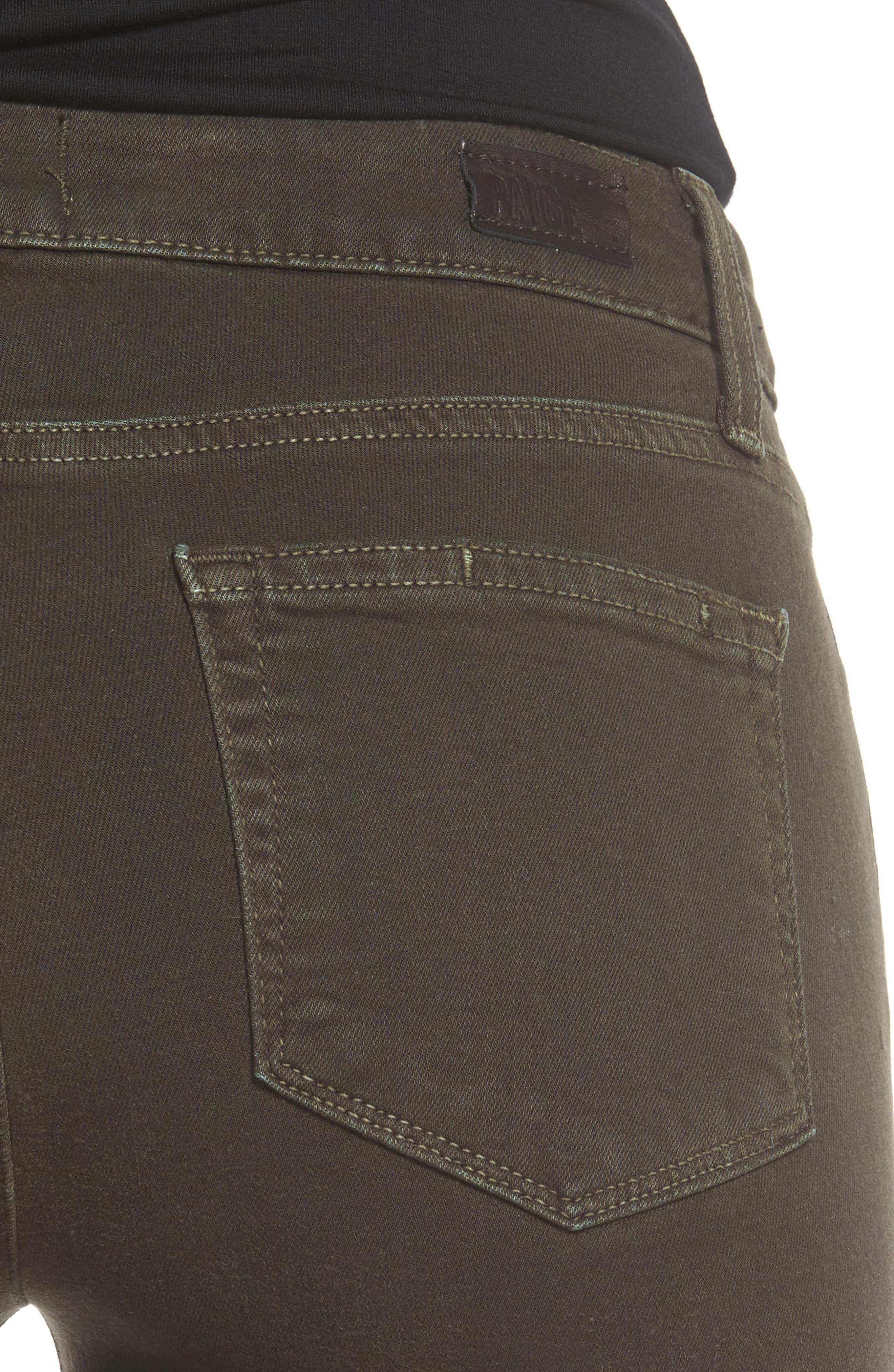 Transcend - Verdugo Ankle Skinny Jeans,                             Alternate thumbnail 4, color,                             Deep Juniper