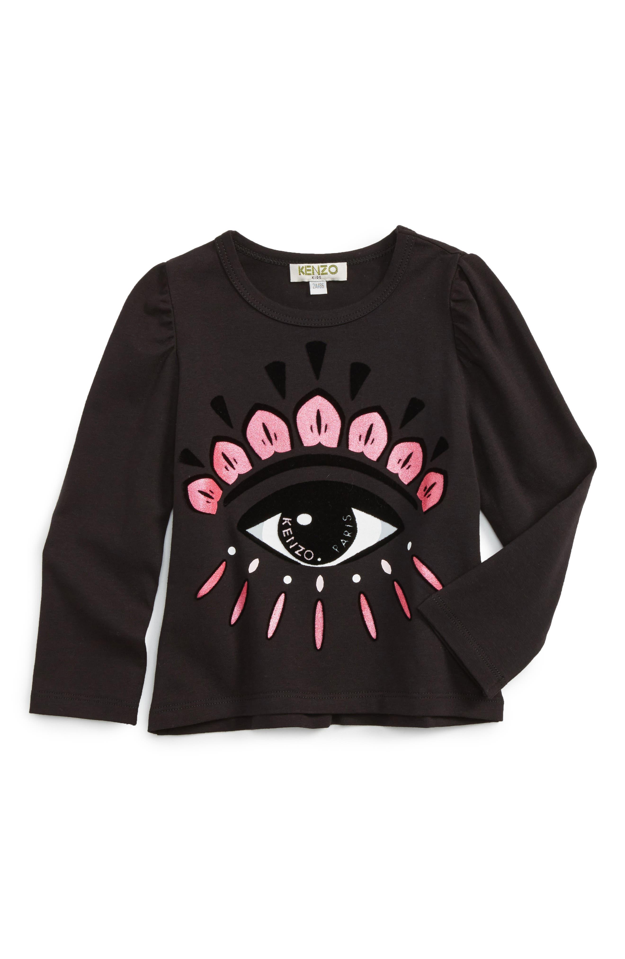 Alternate Image 1 Selected - KENZO Eye Graphic Tee (Toddler Girls, Little Girls & Big Girls)