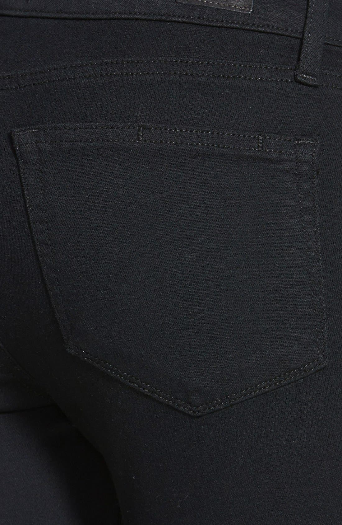 Transcend - Verdugo Ultra Skinny Jeans,                             Alternate thumbnail 3, color,                             Black Destructed