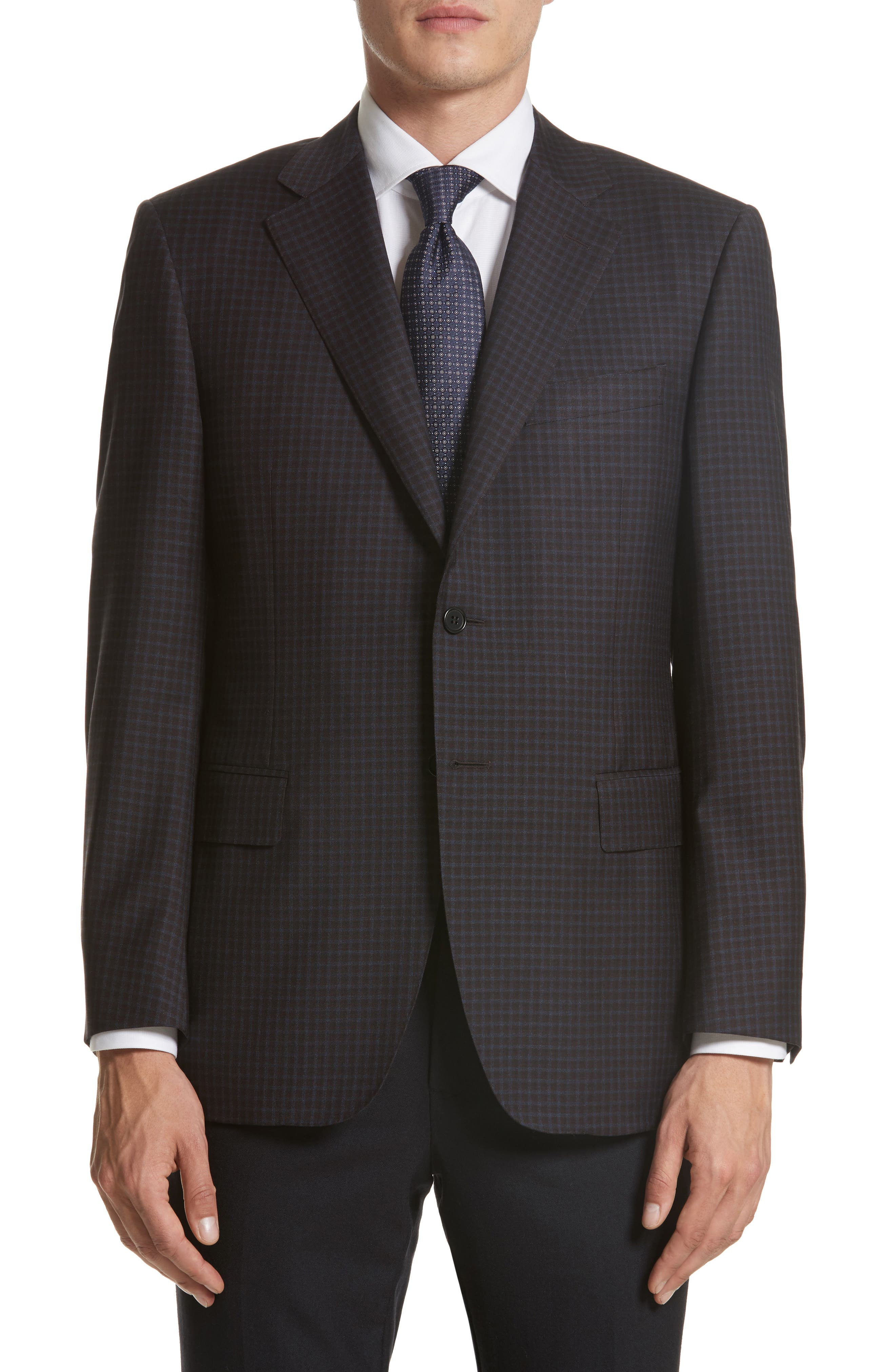 Main Image - Canali Classic Fit Check Wool Sport Coat