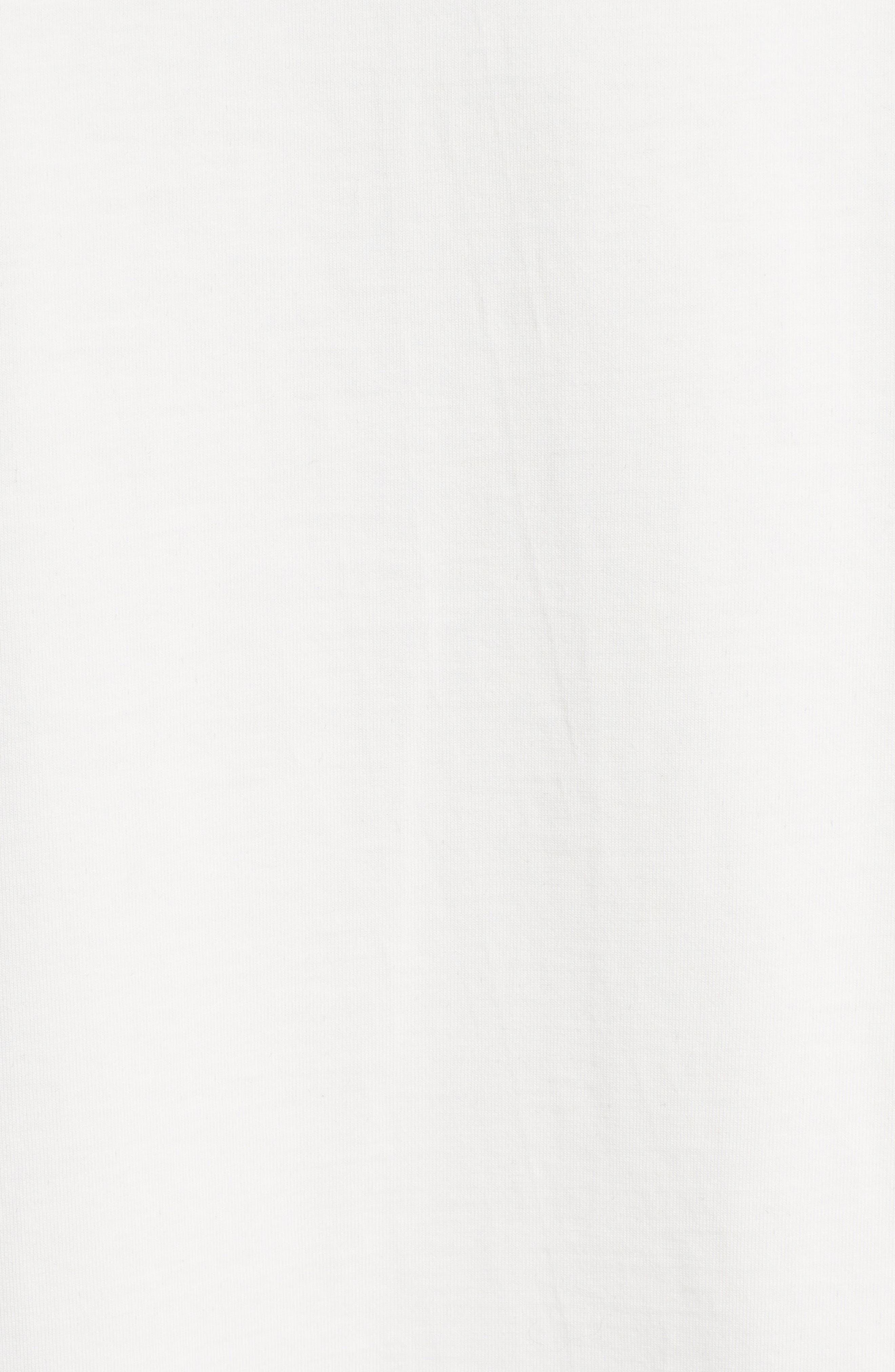 Flocked Graphic Sweatshirt,                             Alternate thumbnail 6, color,                             White