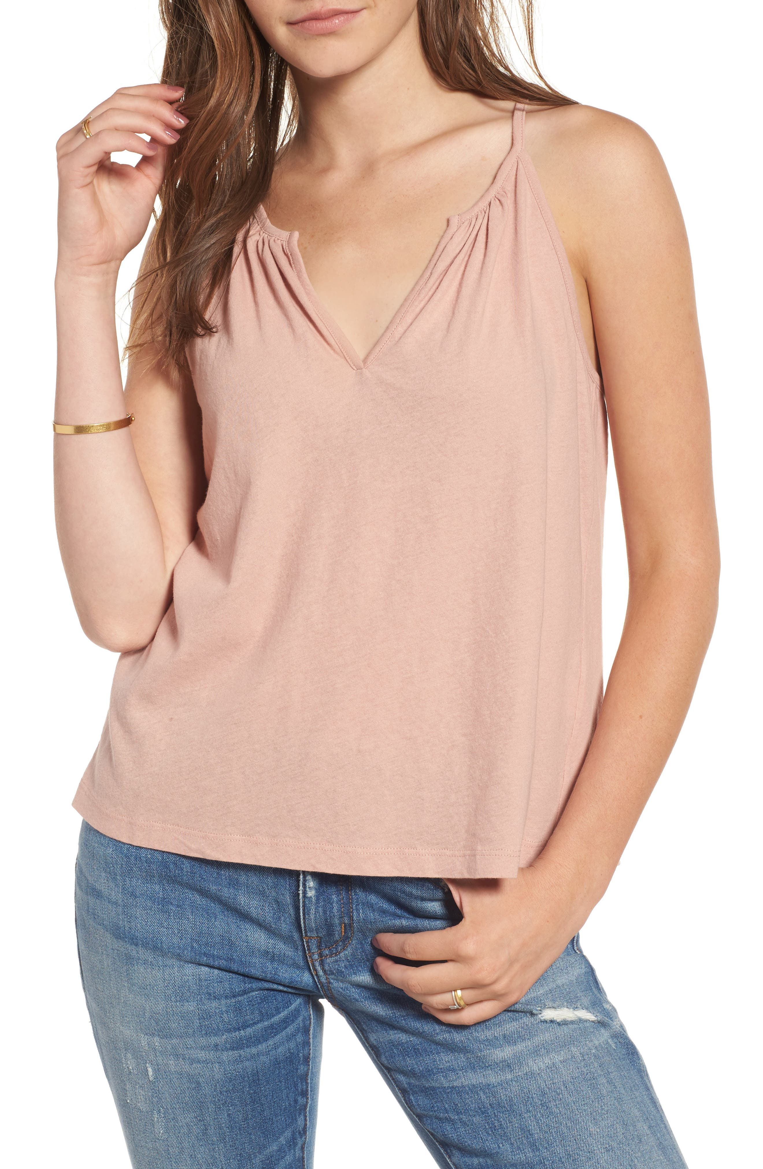 Alternate Image 1 Selected - Madewell Hazel Split Neck Camisole