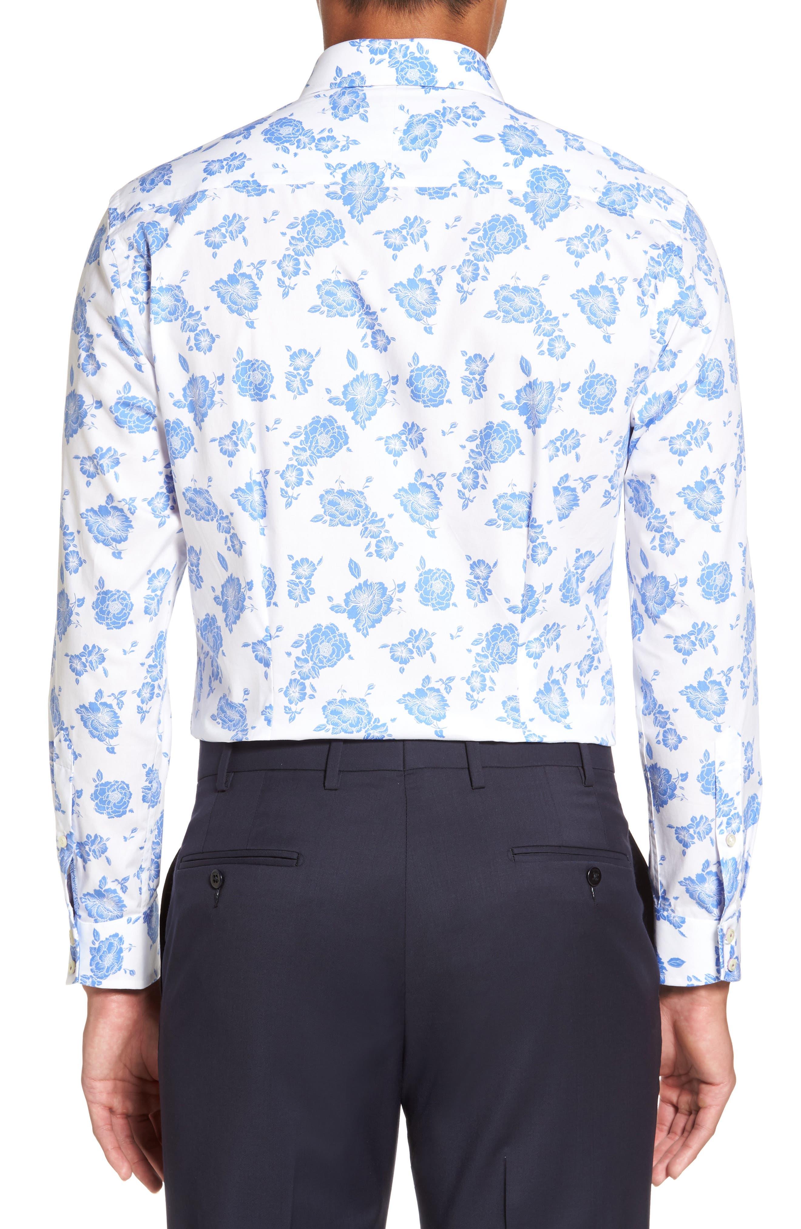 Alternate Image 3  - Ted Baker London Trim Fit Floral Dress Shirt