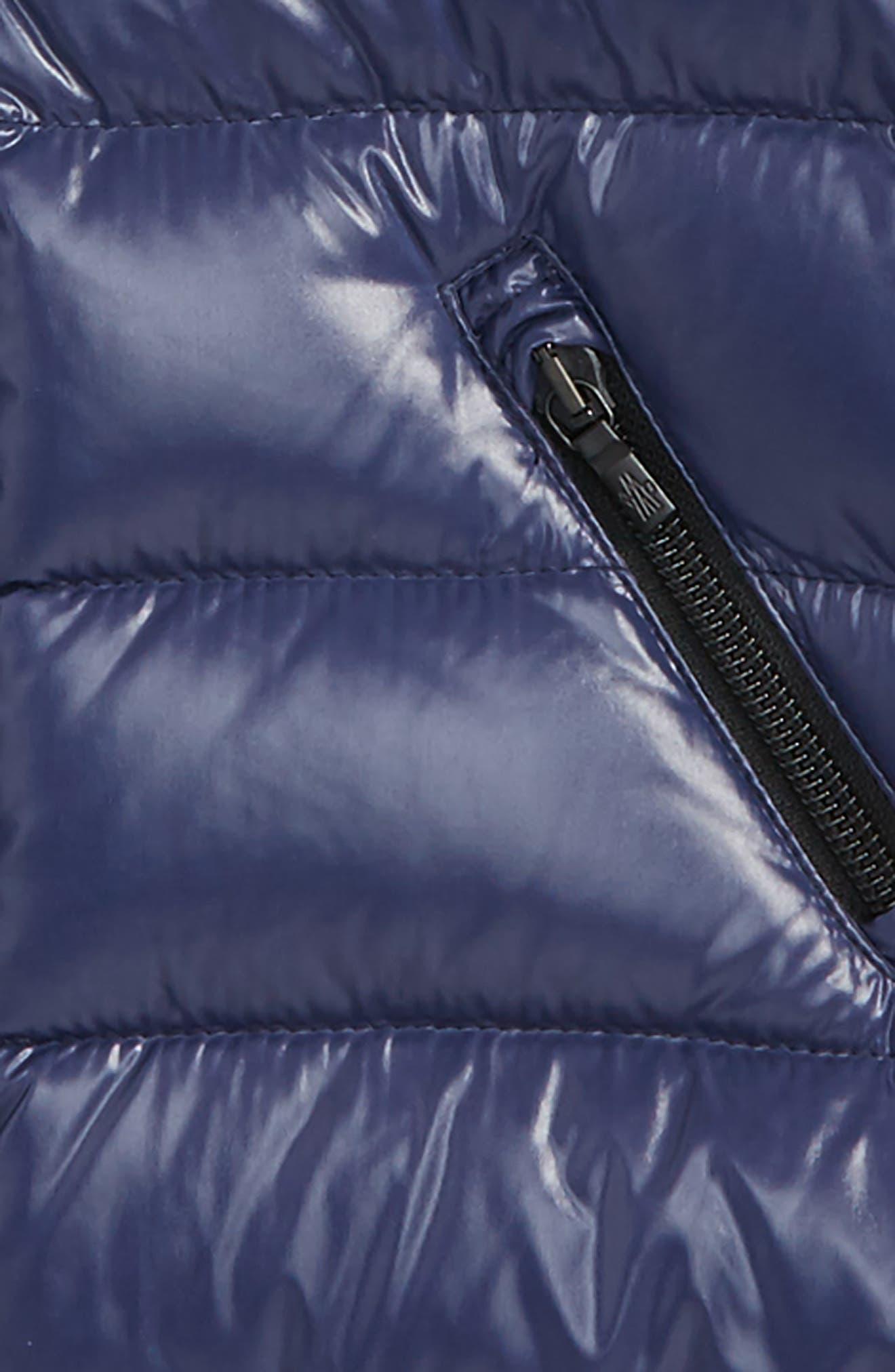 Alternate Image 2  - Moncler Moka Long Hooded Waterproof Down Jacket (Toddler Girls)