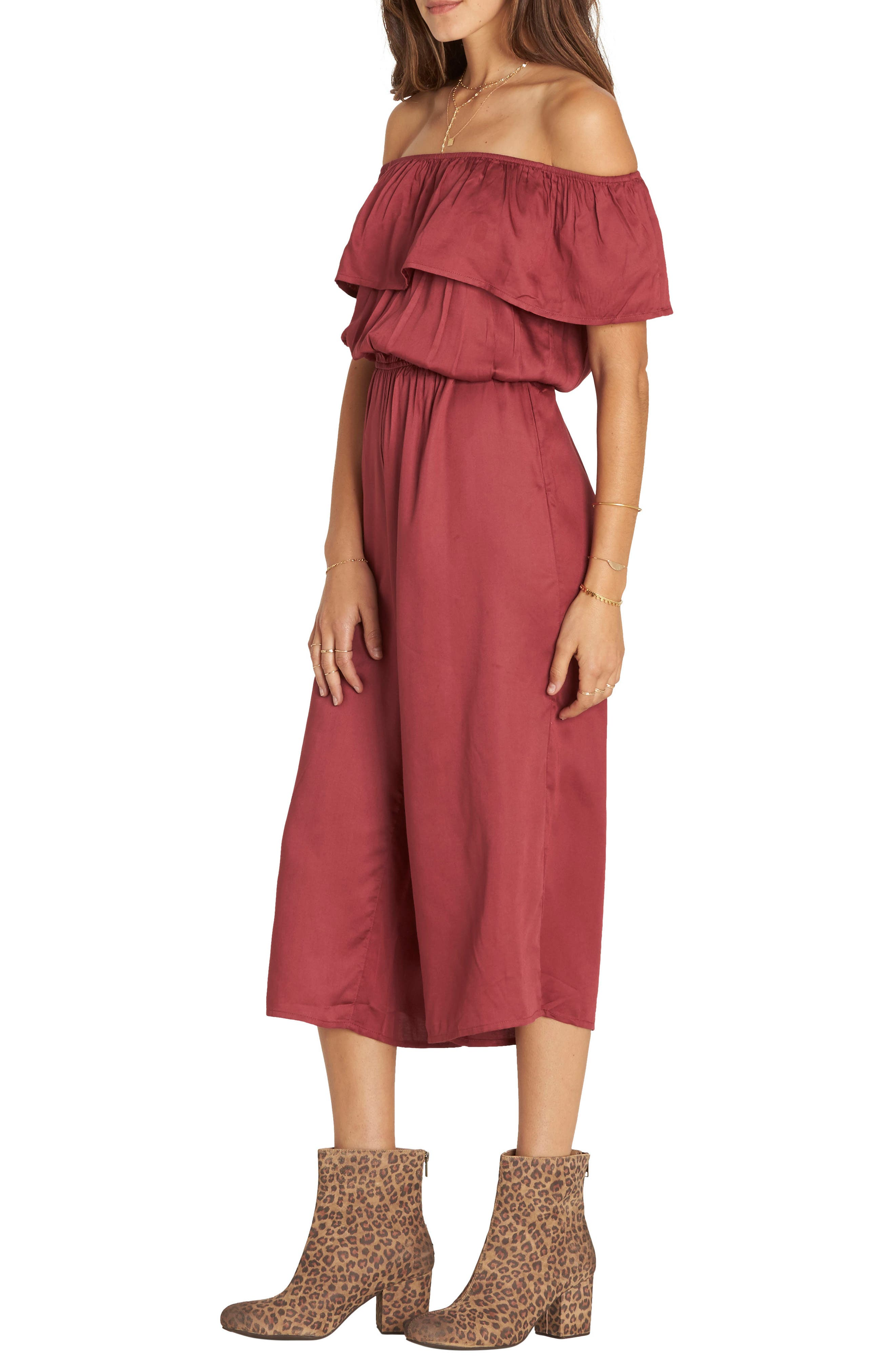 Billabong Some Day Off the Shoulder Jumpsuit