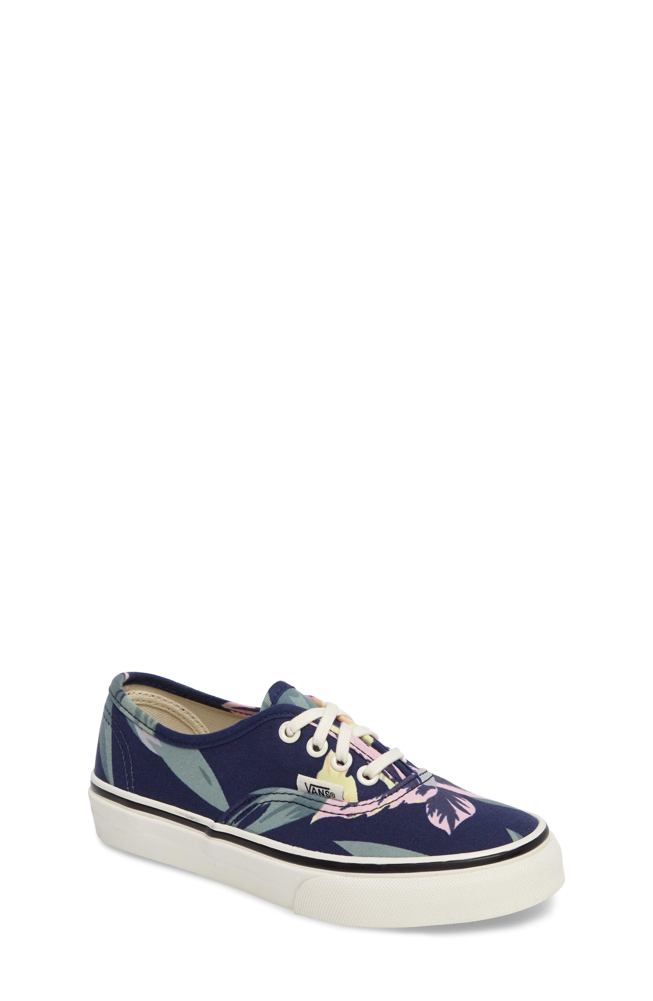 Alternate Image 1 Selected - Vans Authentic Floral Print Sneaker (Toddler, Little Kid & Big Kid)