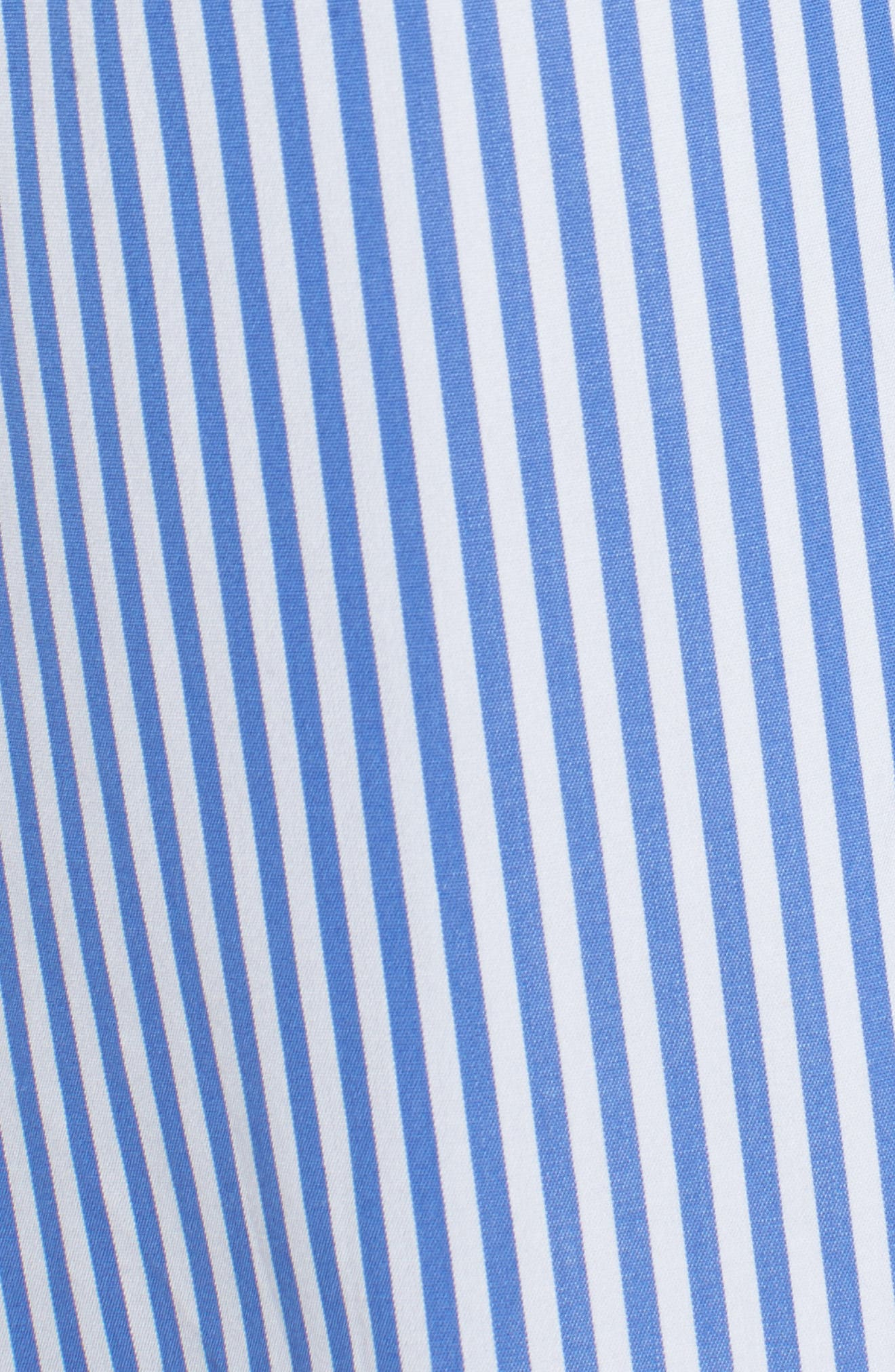 Lace-Up Stripe Shirt,                             Alternate thumbnail 6, color,                             Blue/ White Stripe