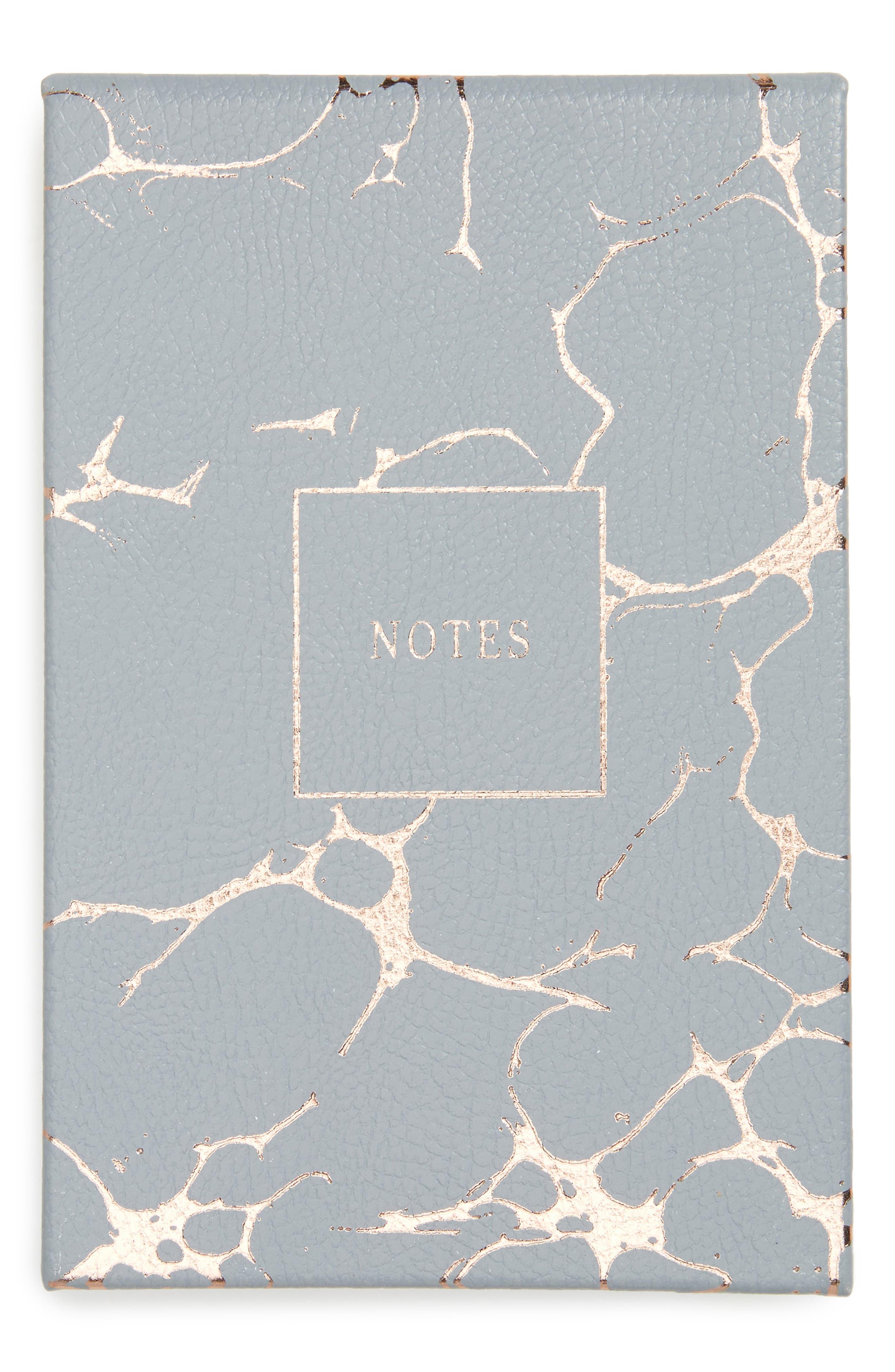 Grey Marble Notepad,                             Main thumbnail 1, color,                             Grey