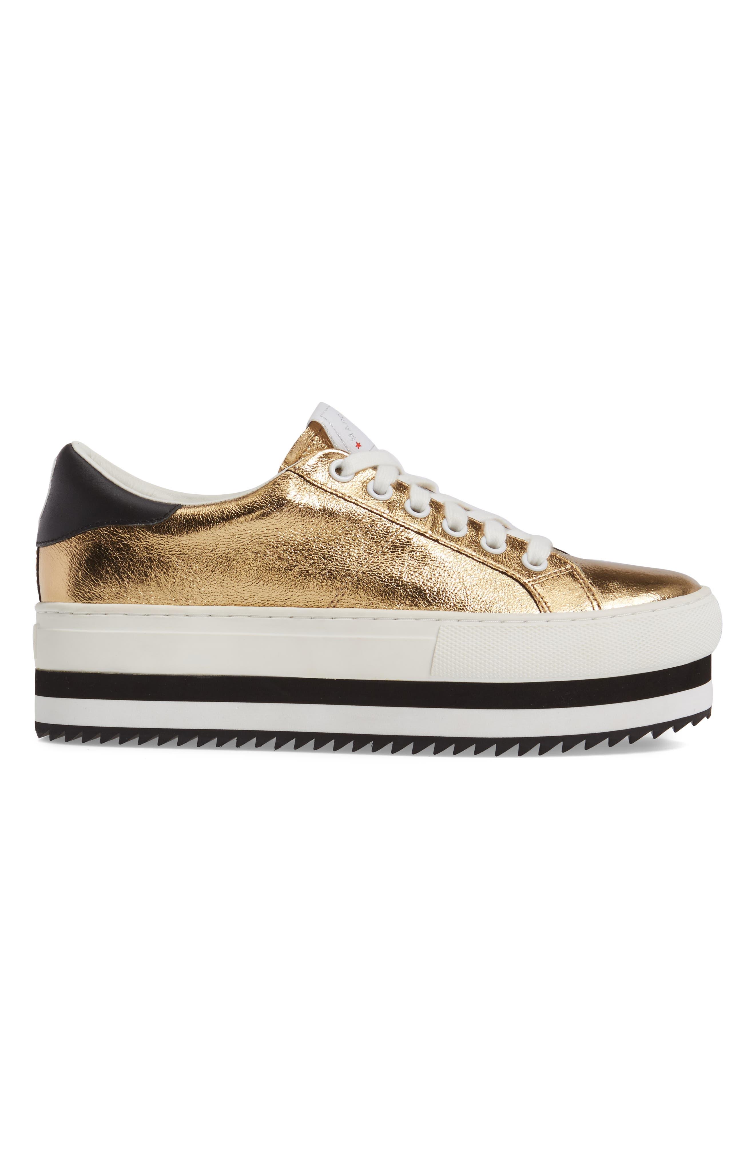 Grand Platform Sneaker,                             Alternate thumbnail 4, color,                             Gold