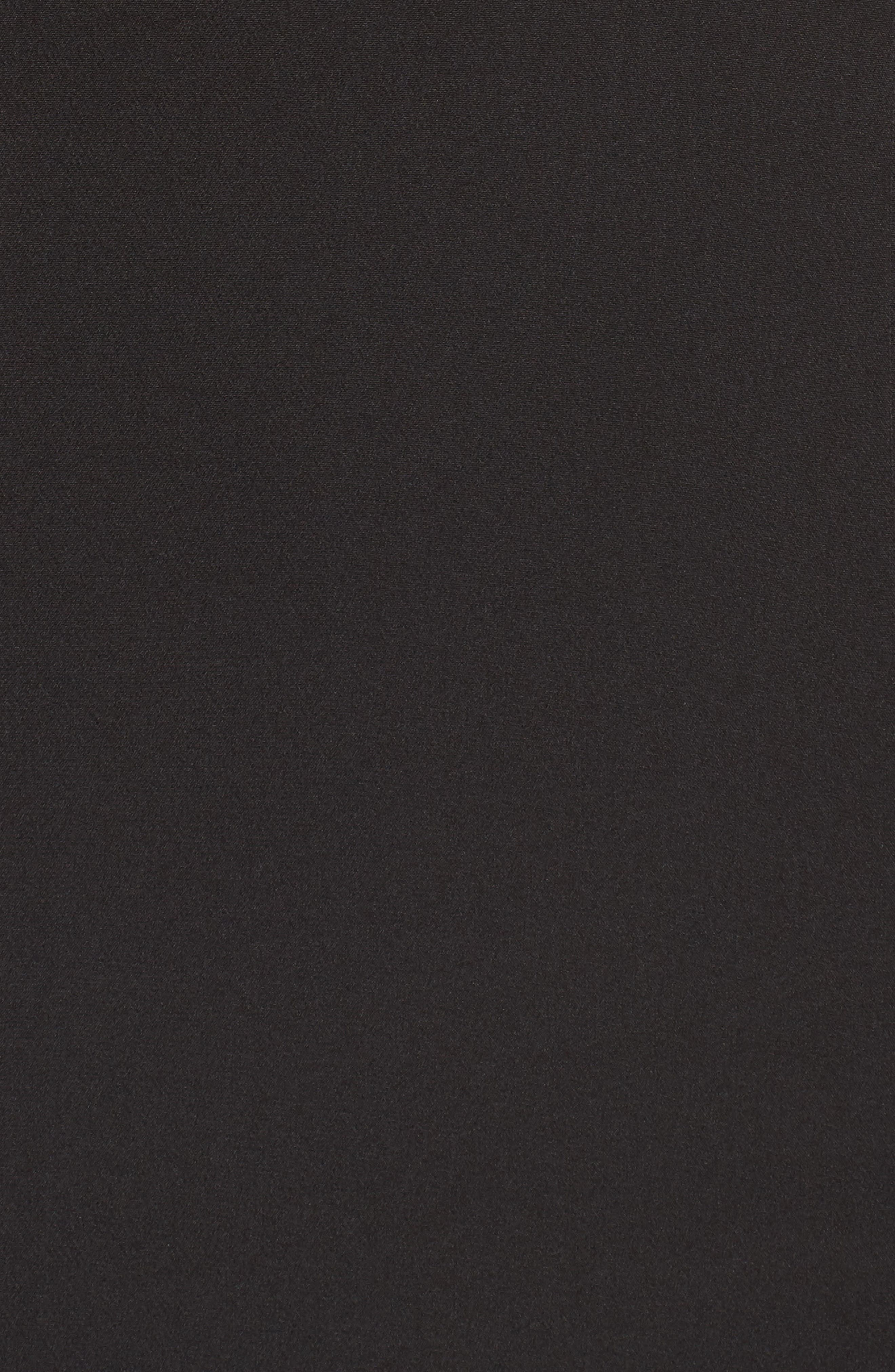 Stella Asymmetrical Ruffle Gown,                             Alternate thumbnail 6, color,                             Black