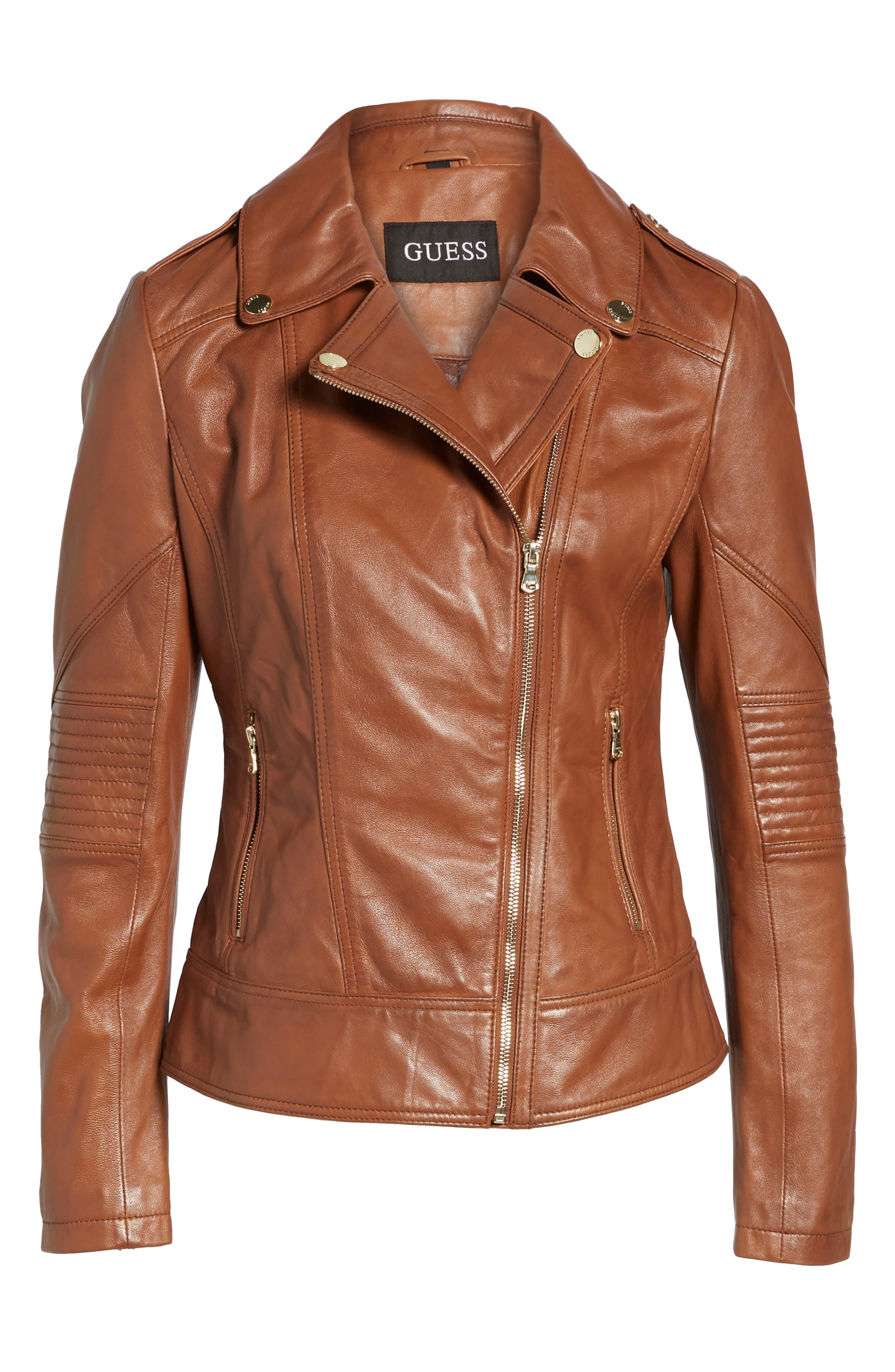 Alternate Image 6  - Guess Leather Moto Jacket