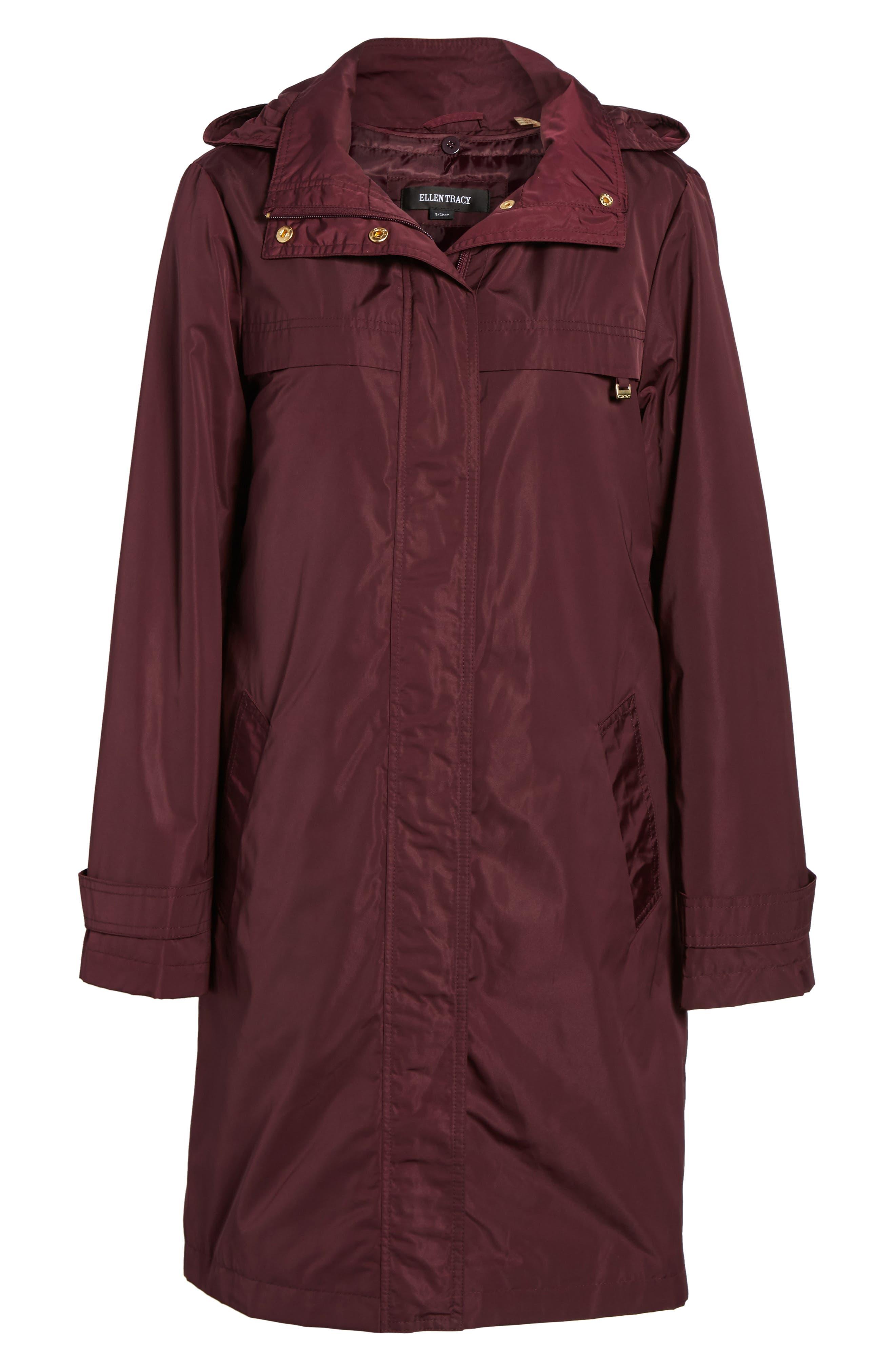 Alternate Image 6  - Ellen Tracy Raincoat with Detachable Hood