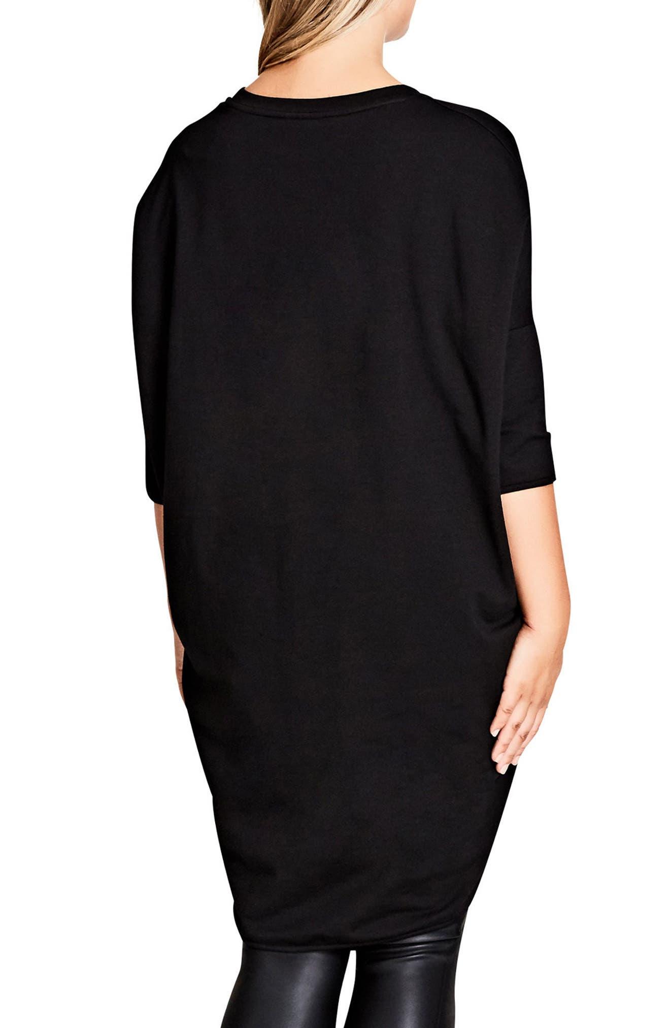 Alternate Image 2  - City Chic Oversize Knit Tee (Plus Size)