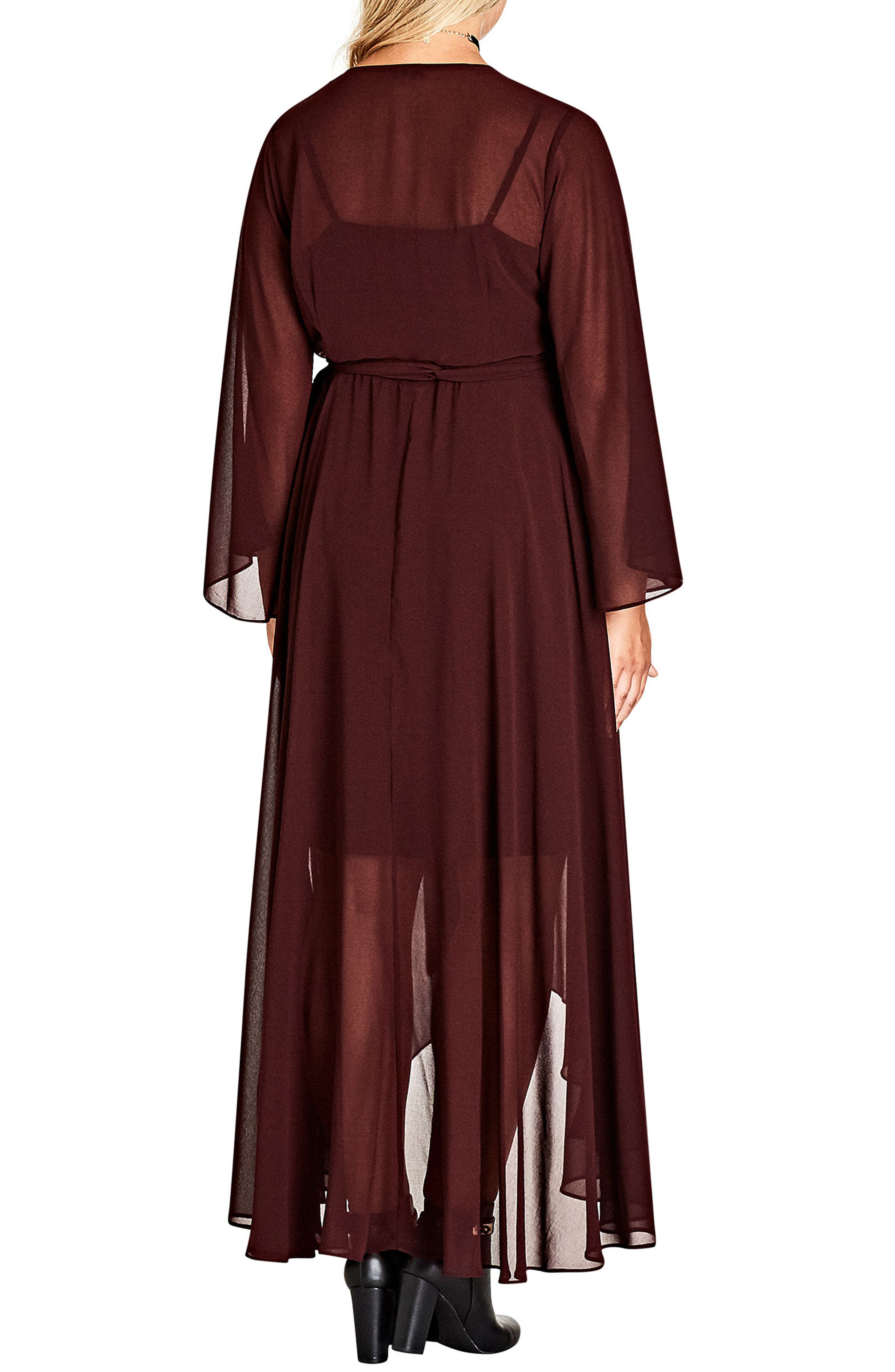 Alternate Image 2  - City Chic 'Fleetwood' Maxi Dress (Plus Size)