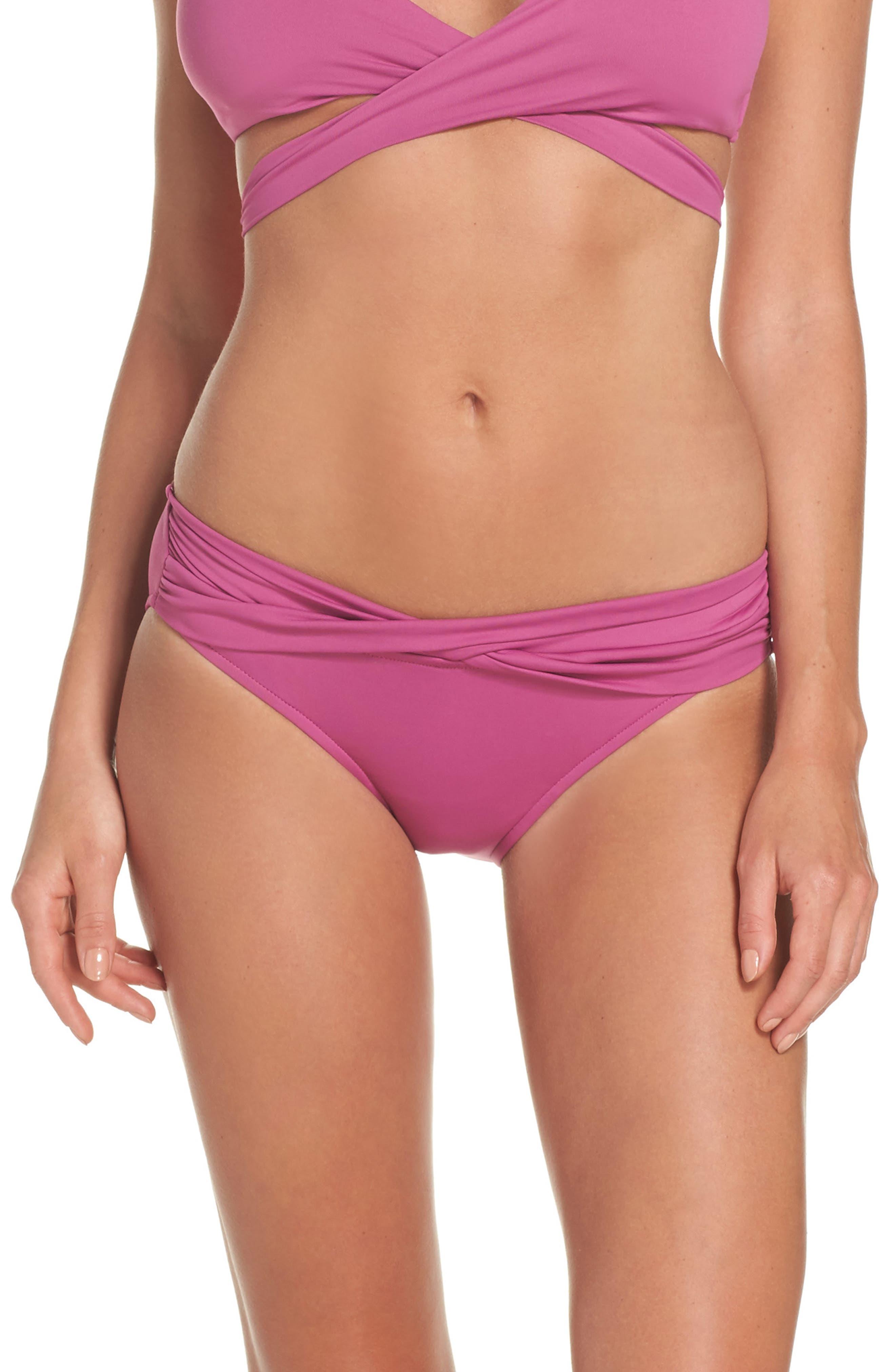 Main Image - Seafolly Hipster Bikini Bottoms