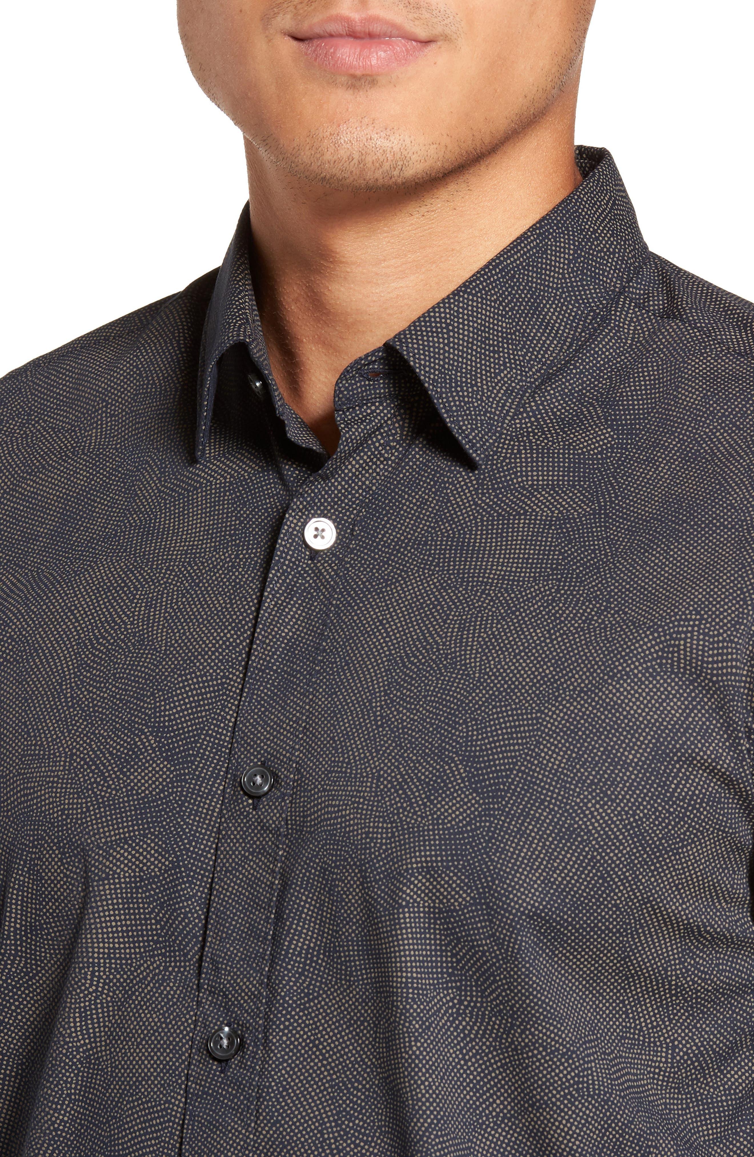 Alternate Image 4  - BOSS Hugo Boss Ronni Print Trim Fit Sport Shirt