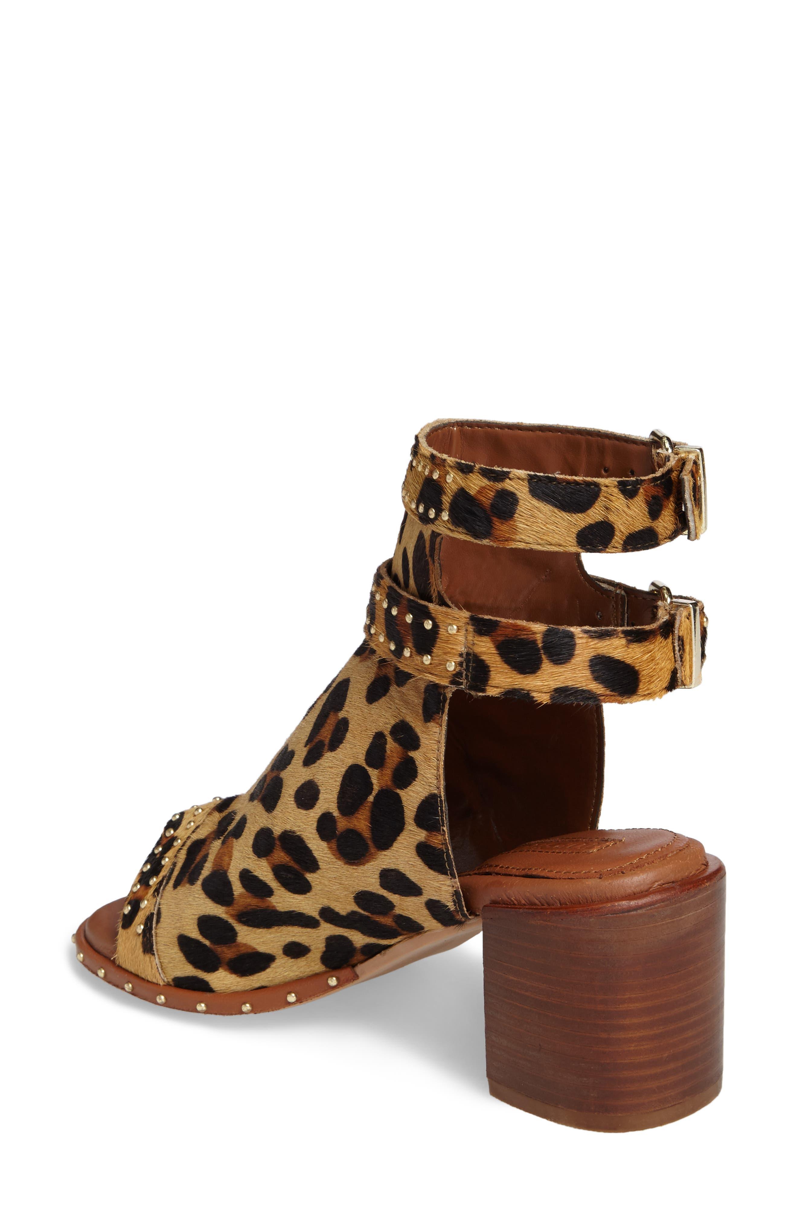 North Studded Bootie Sandal,                             Alternate thumbnail 2, color,                             Leopard